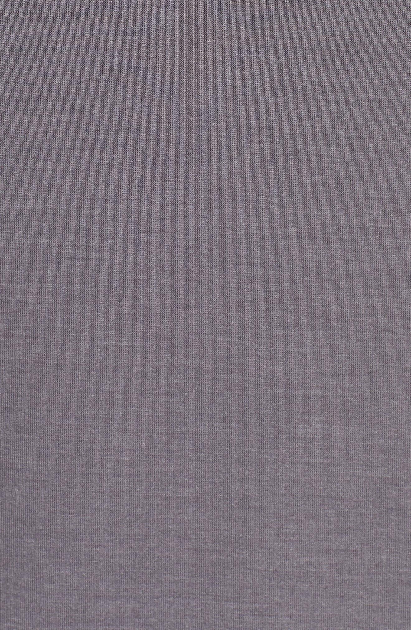 Dry Training Zip Hoodie,                             Alternate thumbnail 5, color,                             GUNSMOKE/ BLACK/ VAST GREY