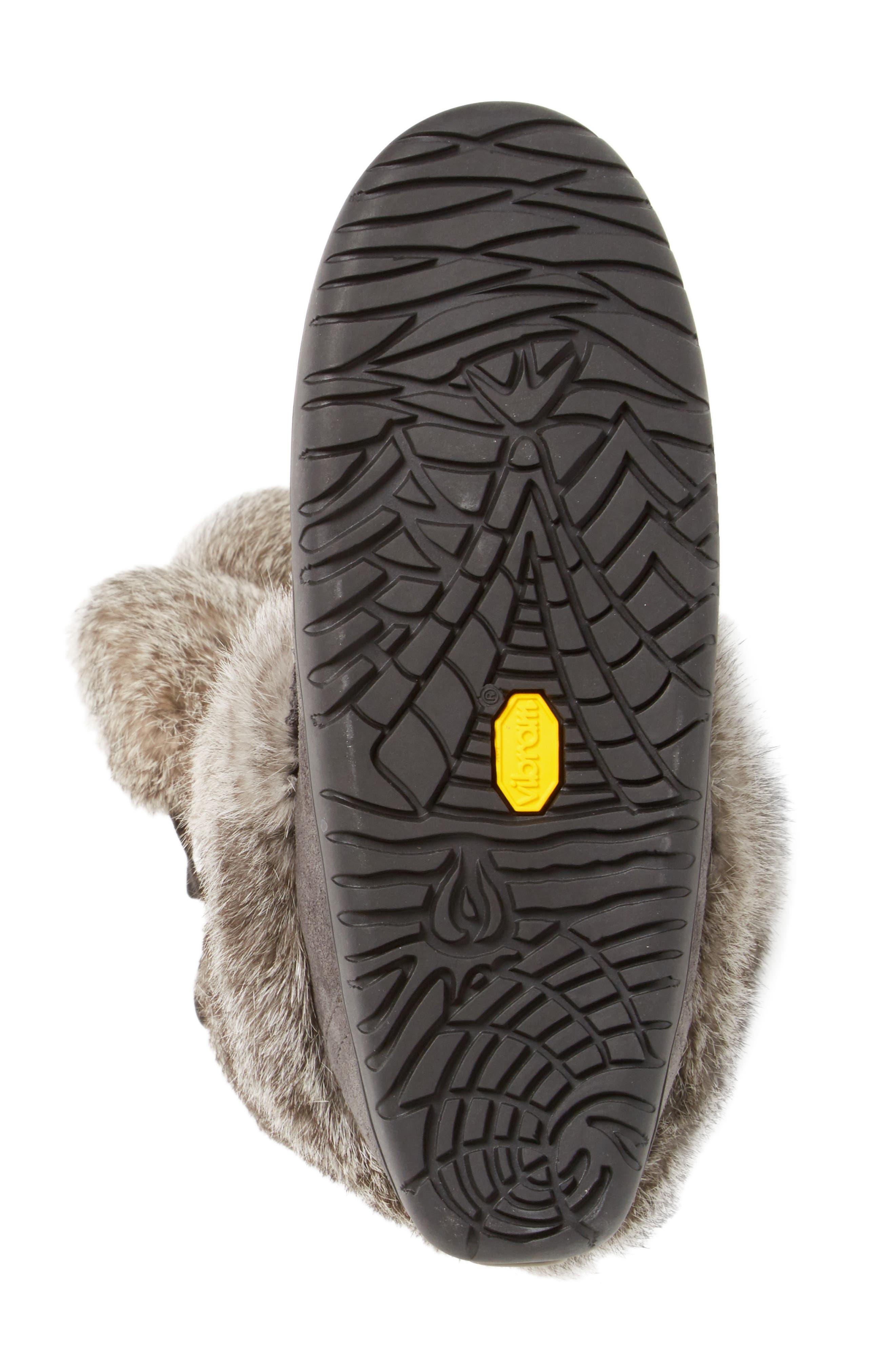 Snowy Owl Waterproof Genuine Fur Boot,                             Alternate thumbnail 8, color,