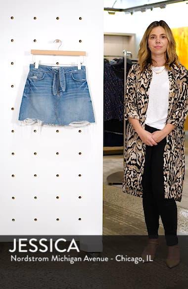 Alethea High Waist Denim Skirt, sales video thumbnail