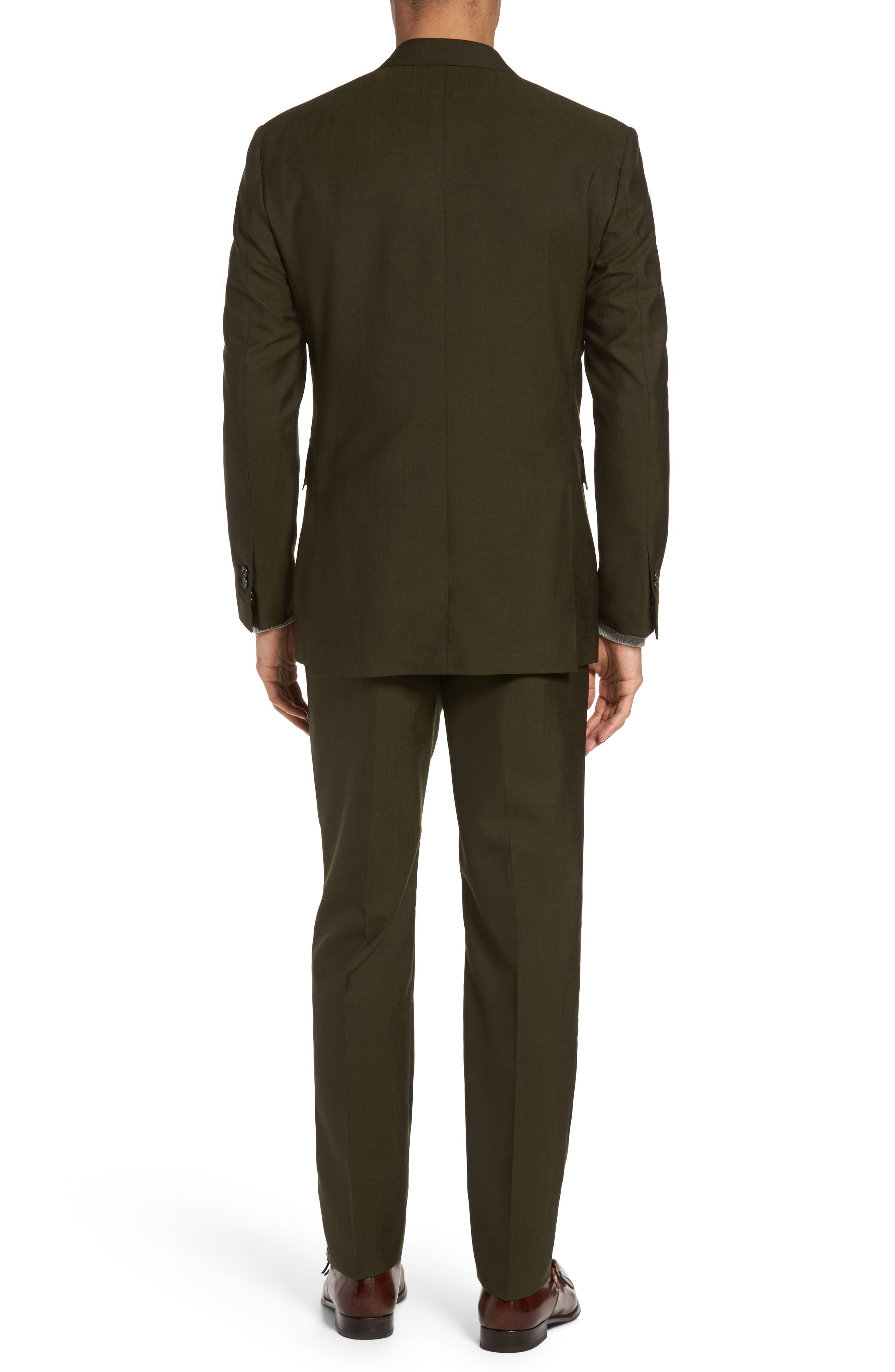 Classic Fit Double Breasted Solid Wool Suit,                             Alternate thumbnail 2, color,                             300