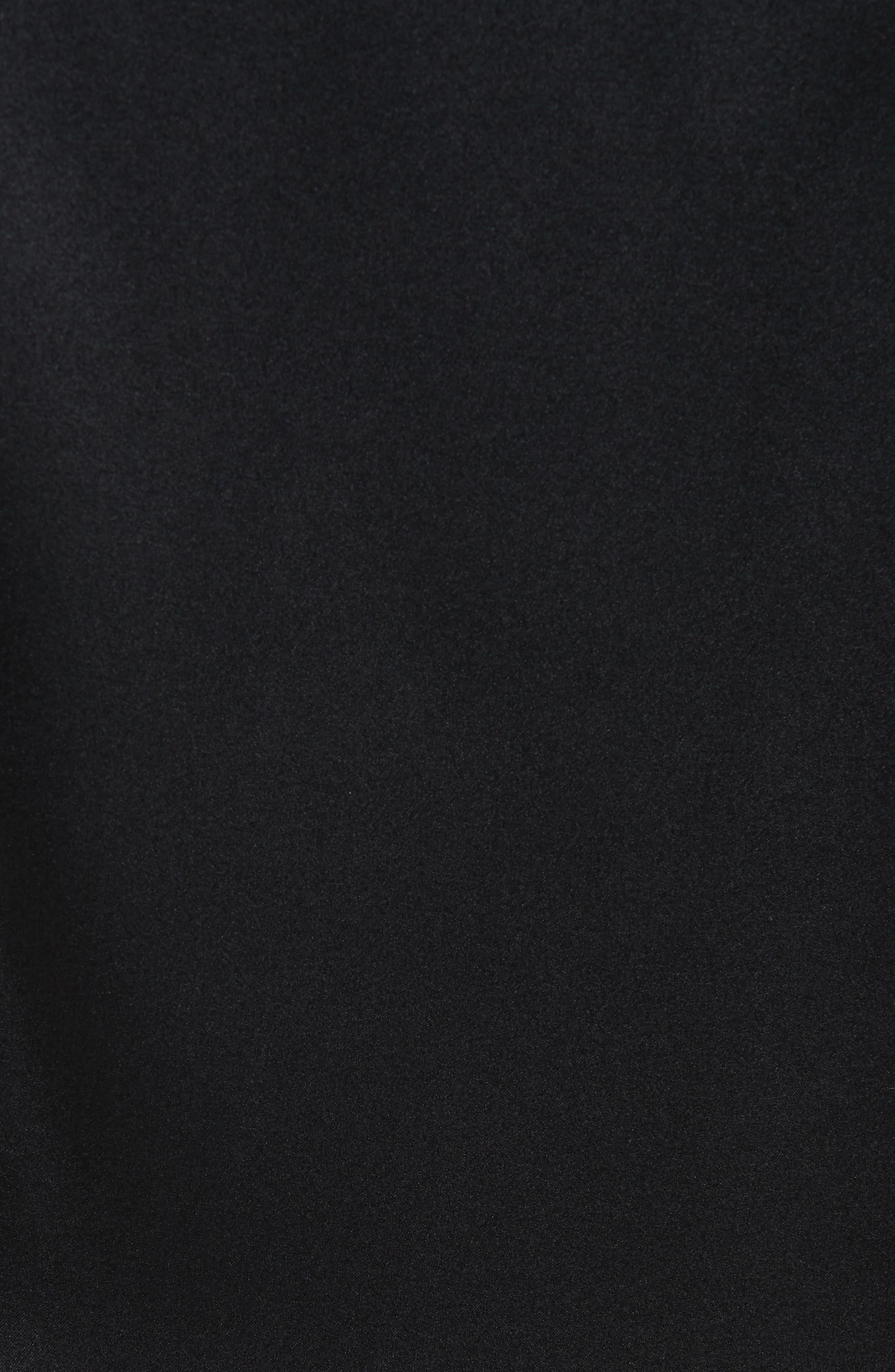 Perfect Fit Stretch Silk Blouse,                             Alternate thumbnail 5, color,                             BLACK