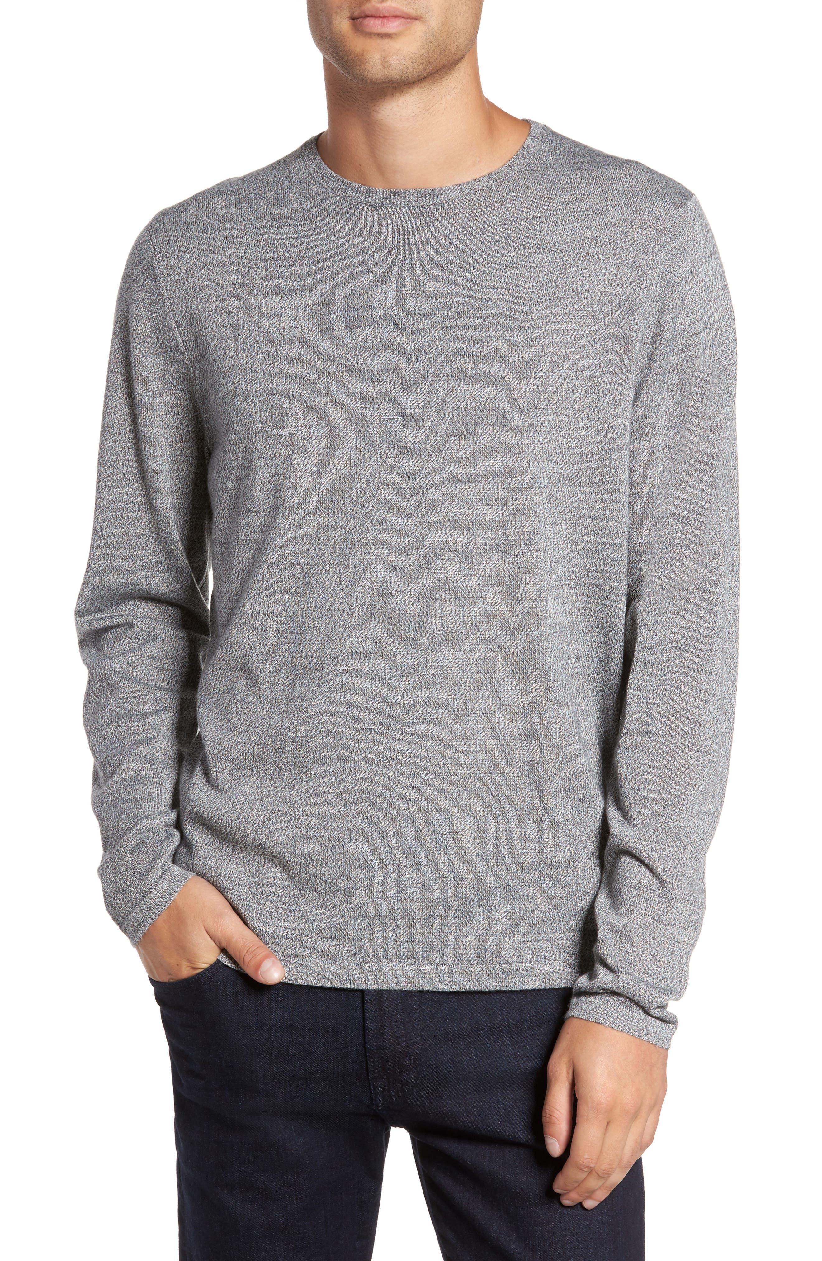 Merino Blend Crewneck Sweater,                             Main thumbnail 2, color,