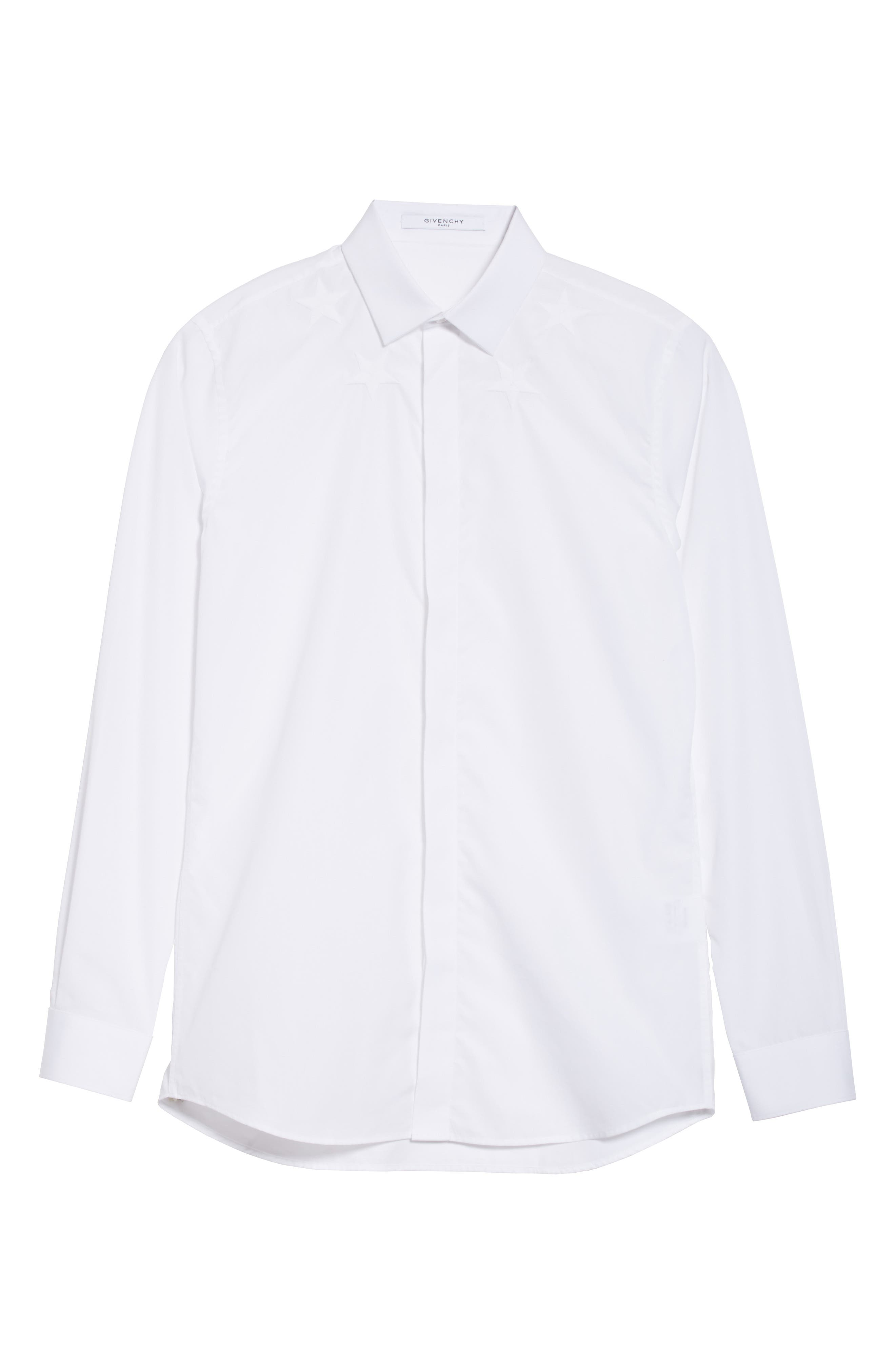 Embroidered Star Dress Shirt,                             Alternate thumbnail 6, color,                             100