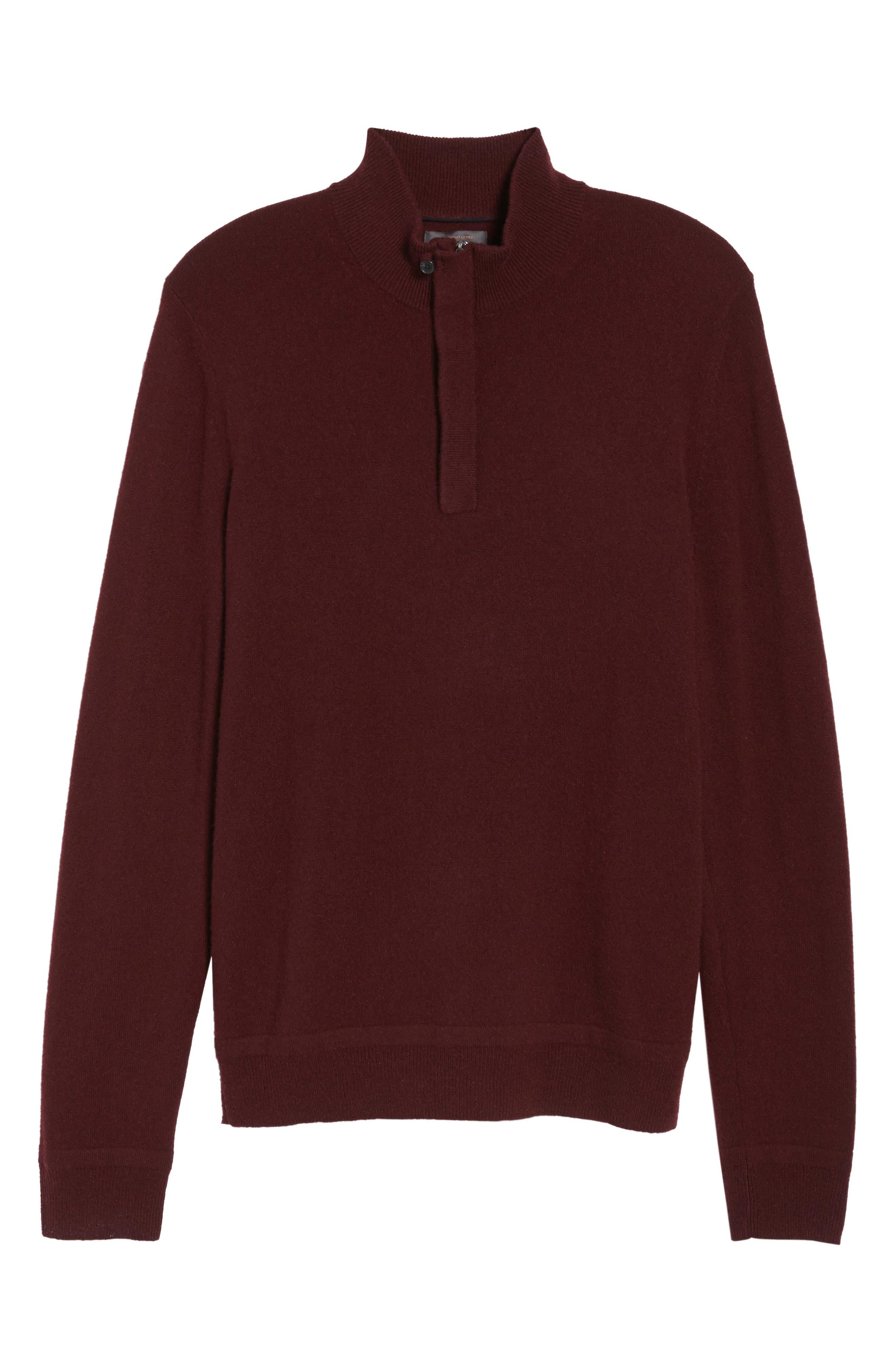 Cashmere Quarter Zip Sweater,                             Alternate thumbnail 36, color,