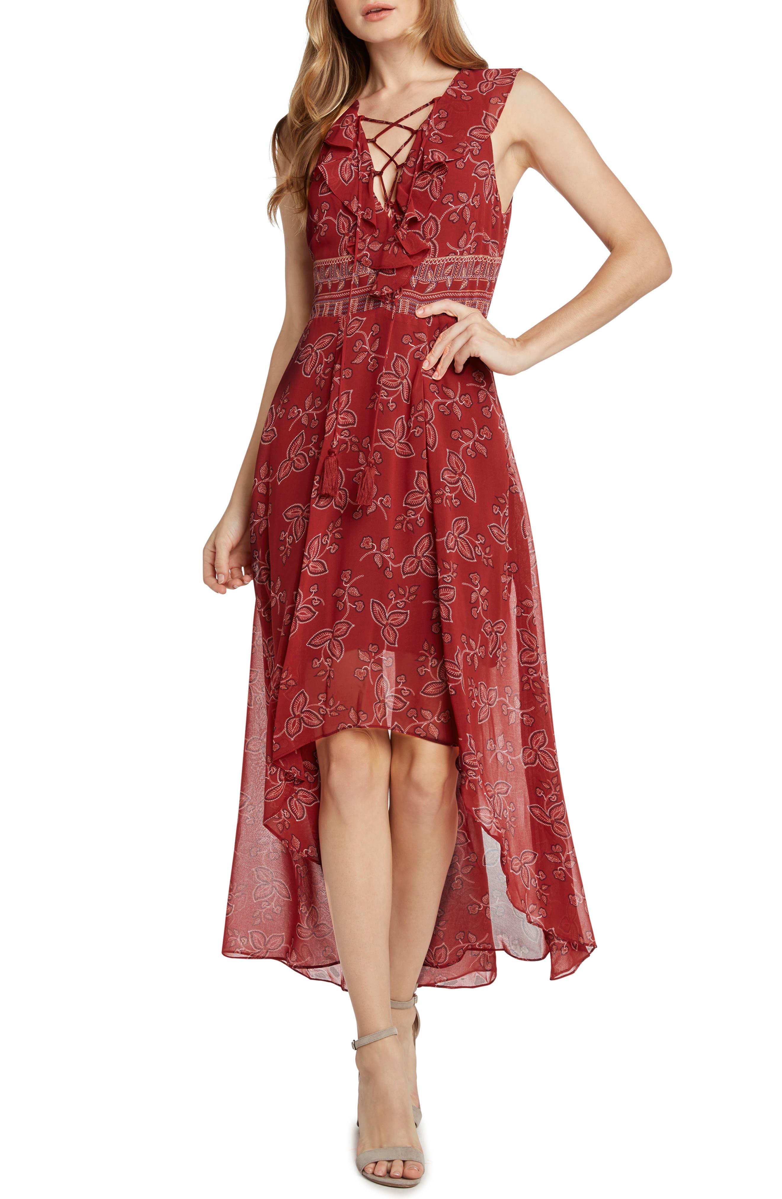 Print High/Low Maxi Dress,                             Main thumbnail 1, color,                             647