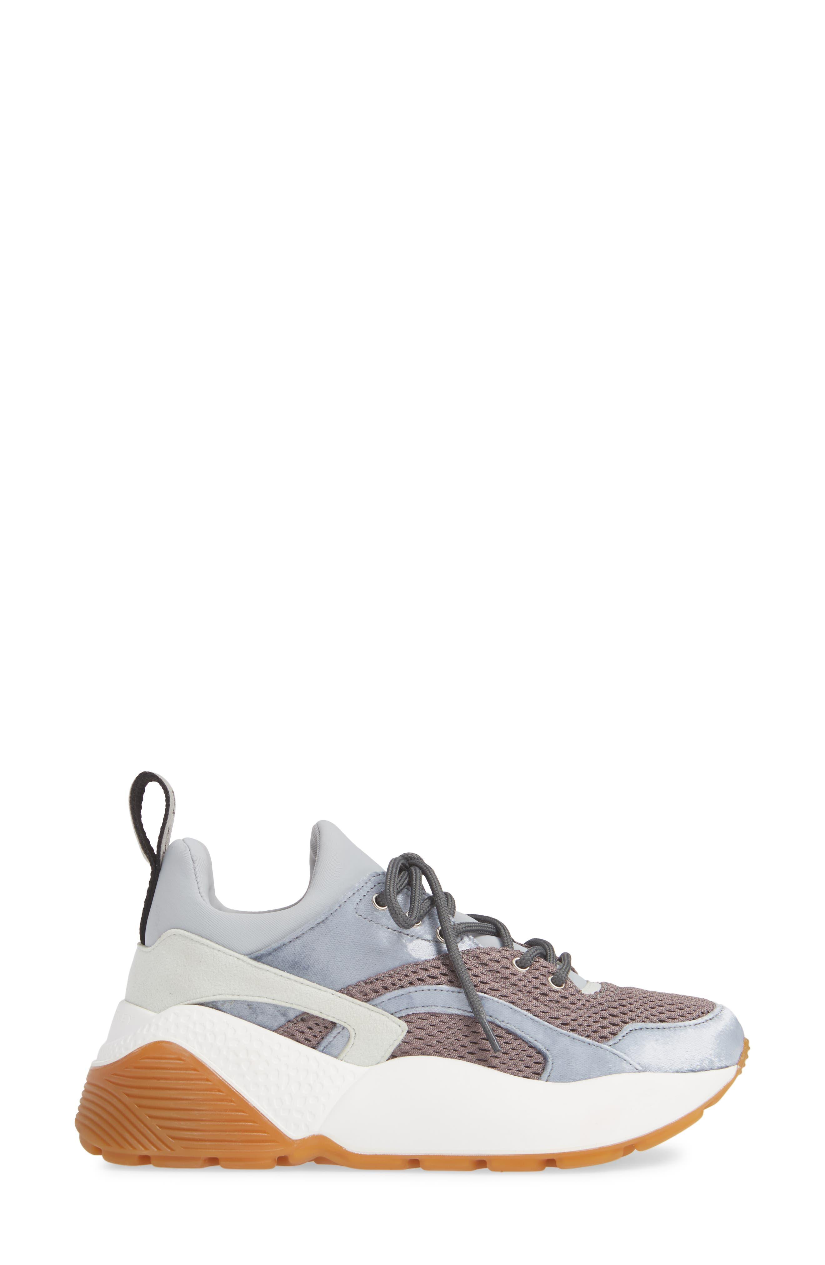Eclypse Lace-Up Sneaker,                             Alternate thumbnail 3, color,                             GREY/ SILVER/ WHITE
