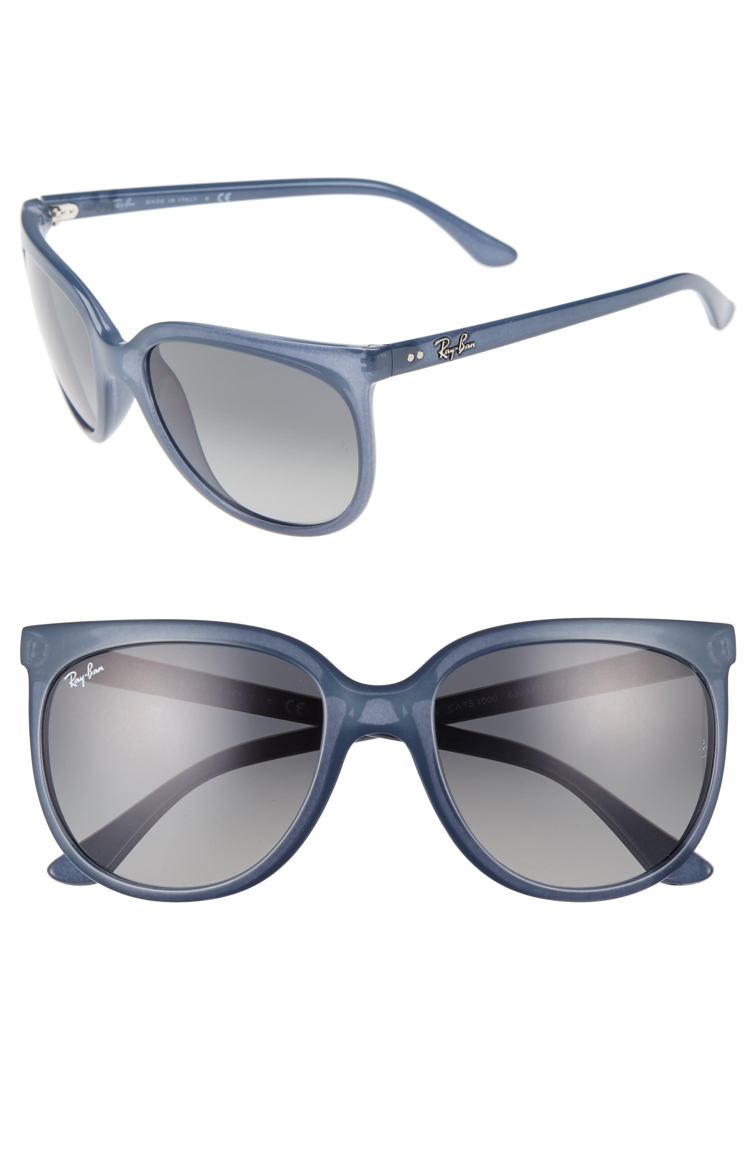 Retro Cat Eye Sunglasses,                             Main thumbnail 3, color,