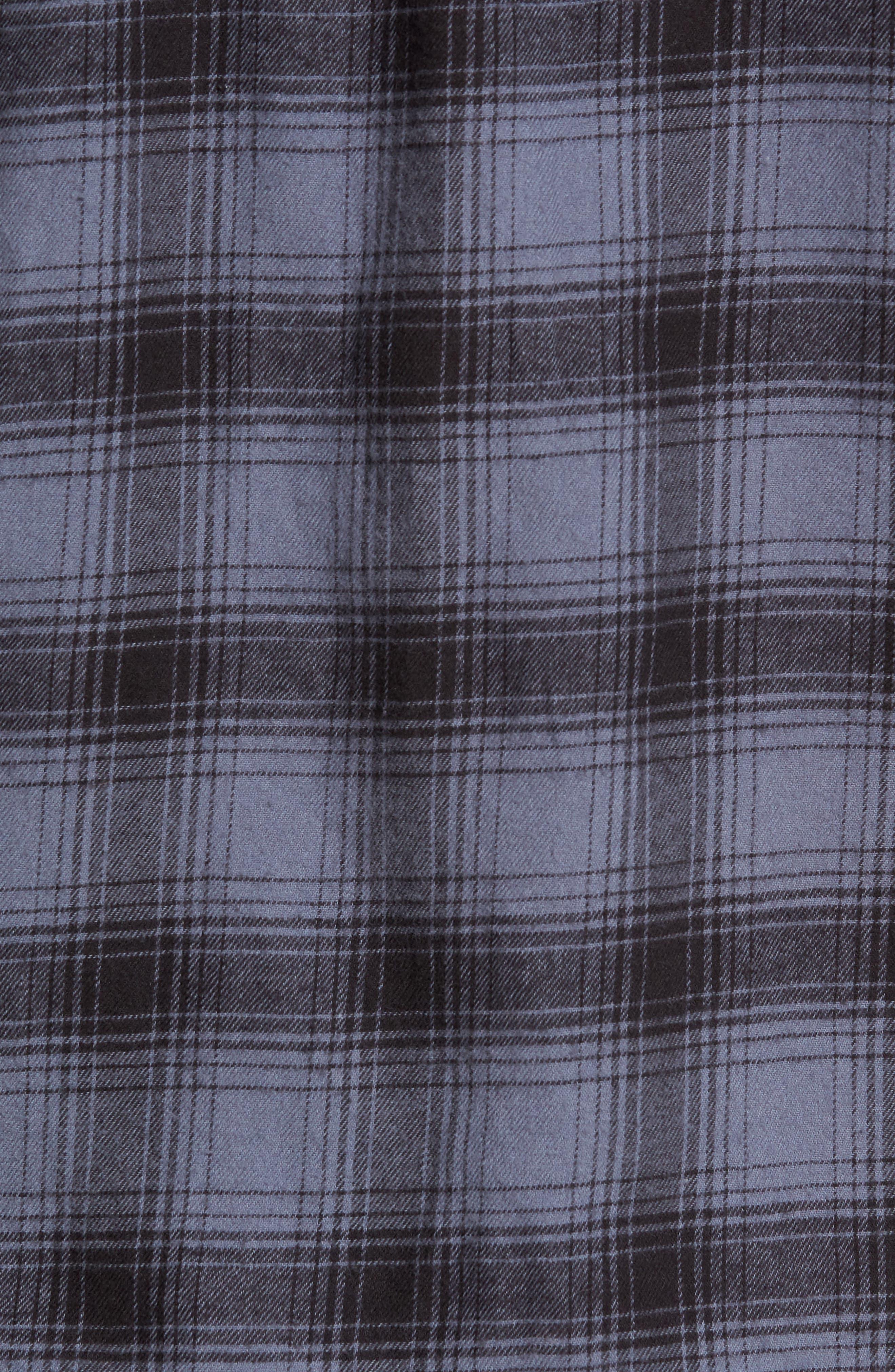 Grady Plaid Flannel Sport Shirt,                             Alternate thumbnail 5, color,                             008