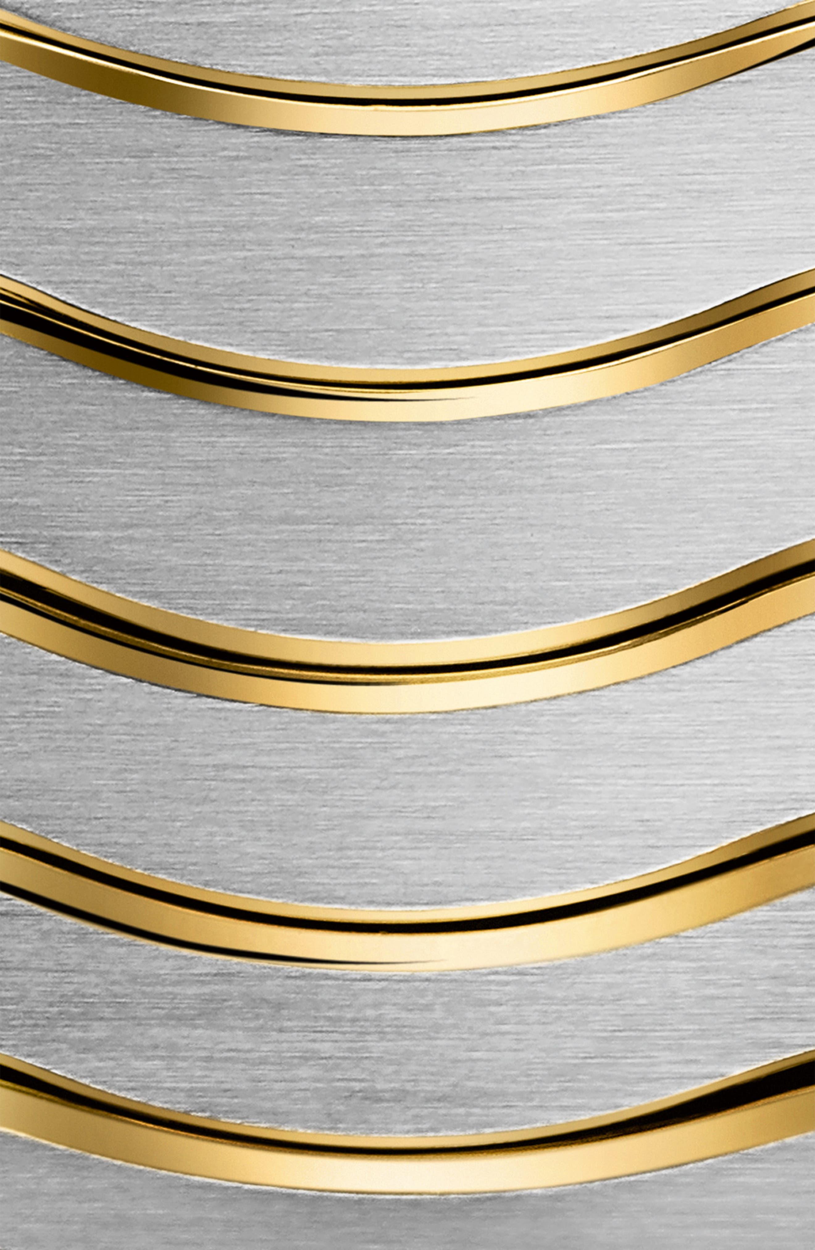 Sport Classic Diamond Bracelet Watch, 29mm,                             Alternate thumbnail 3, color,                             SILVER/ WHITE/ GOLD