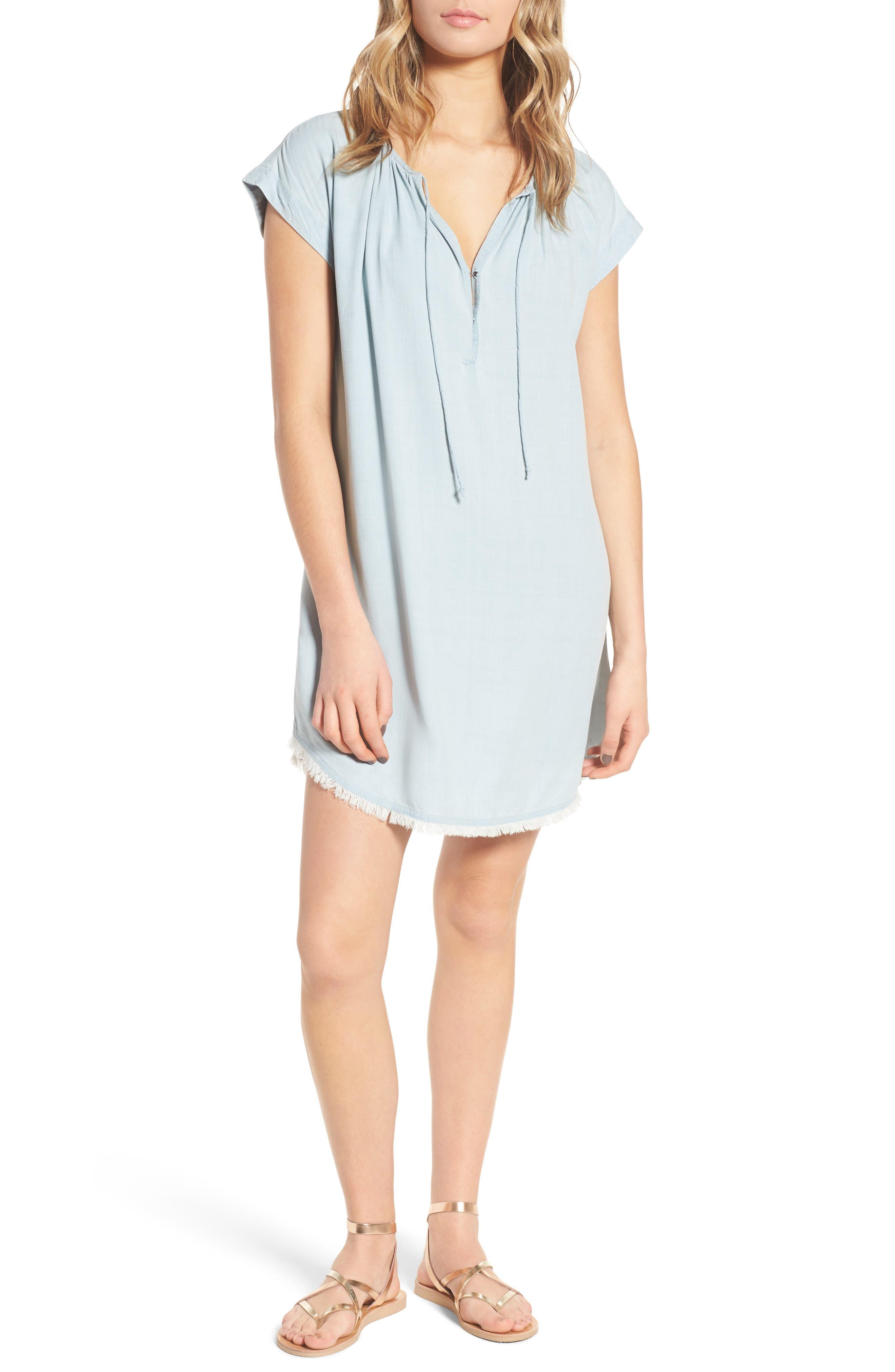 Chambray Shift Dress,                         Main,                         color,