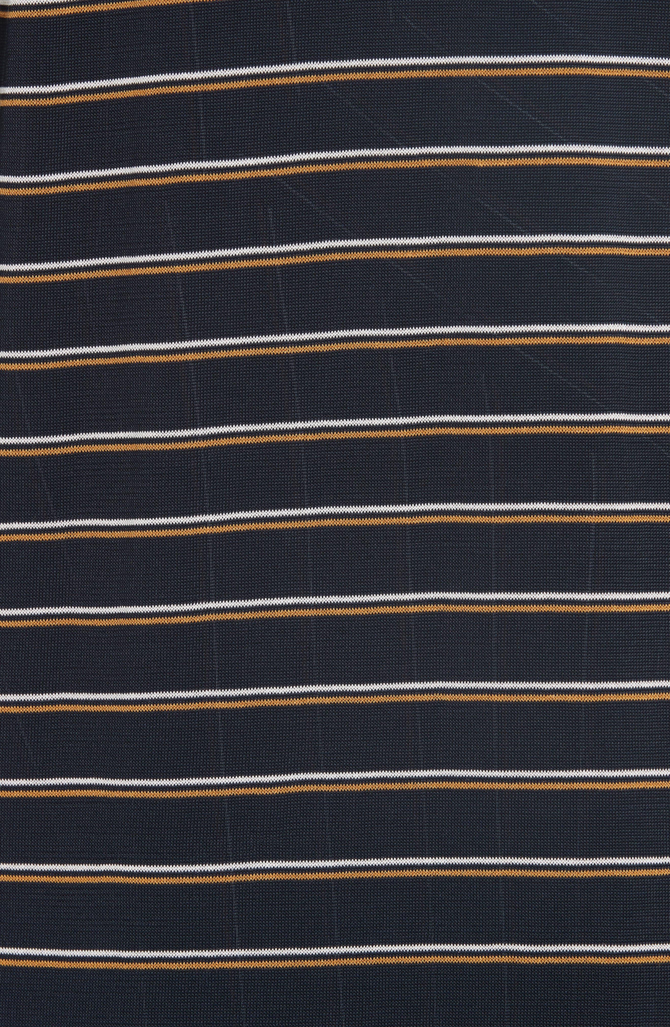 Long Stripe Cardigan,                             Alternate thumbnail 5, color,                             INK MULTI