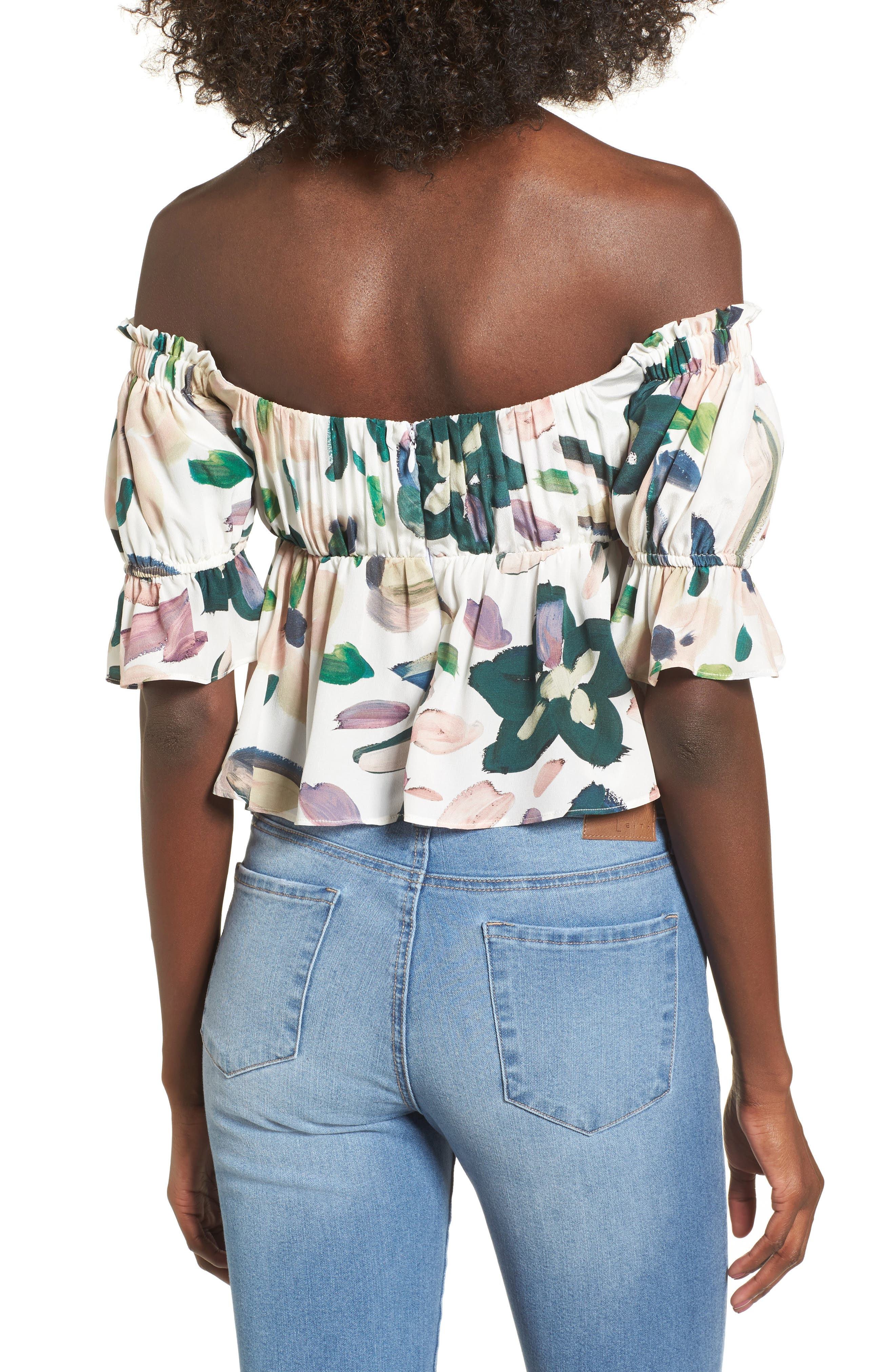 Monte Off the Shoulder Top,                             Alternate thumbnail 2, color,                             100