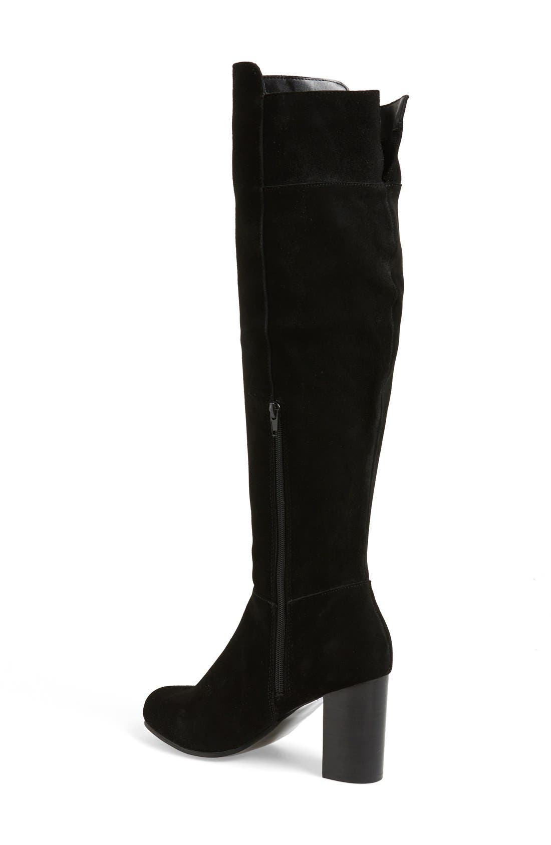 'Ginette' Over the Knee Boot,                             Alternate thumbnail 3, color,                             001
