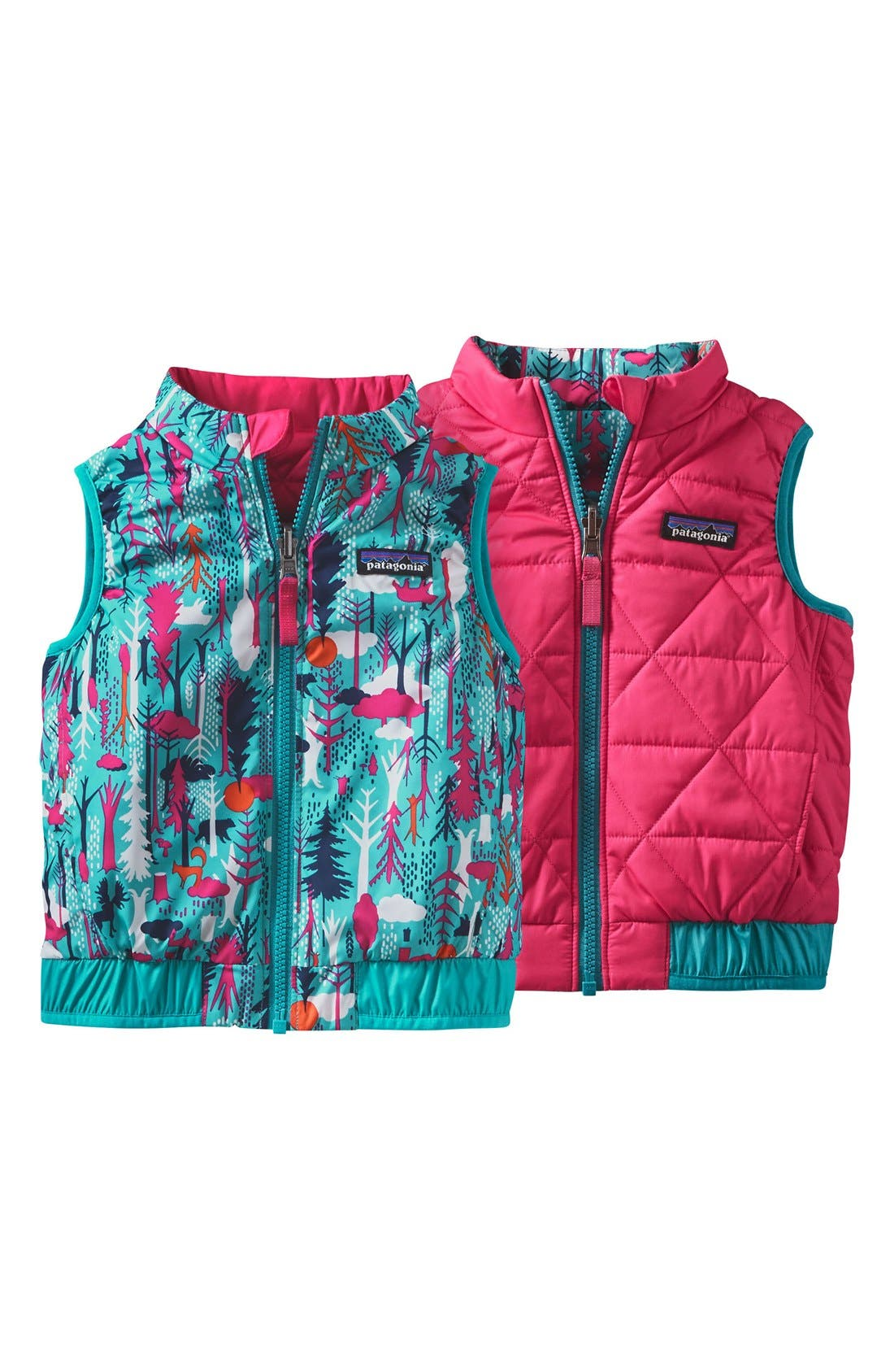 'Puff-Ball' Water Resistant Reversible Vest,                             Alternate thumbnail 8, color,