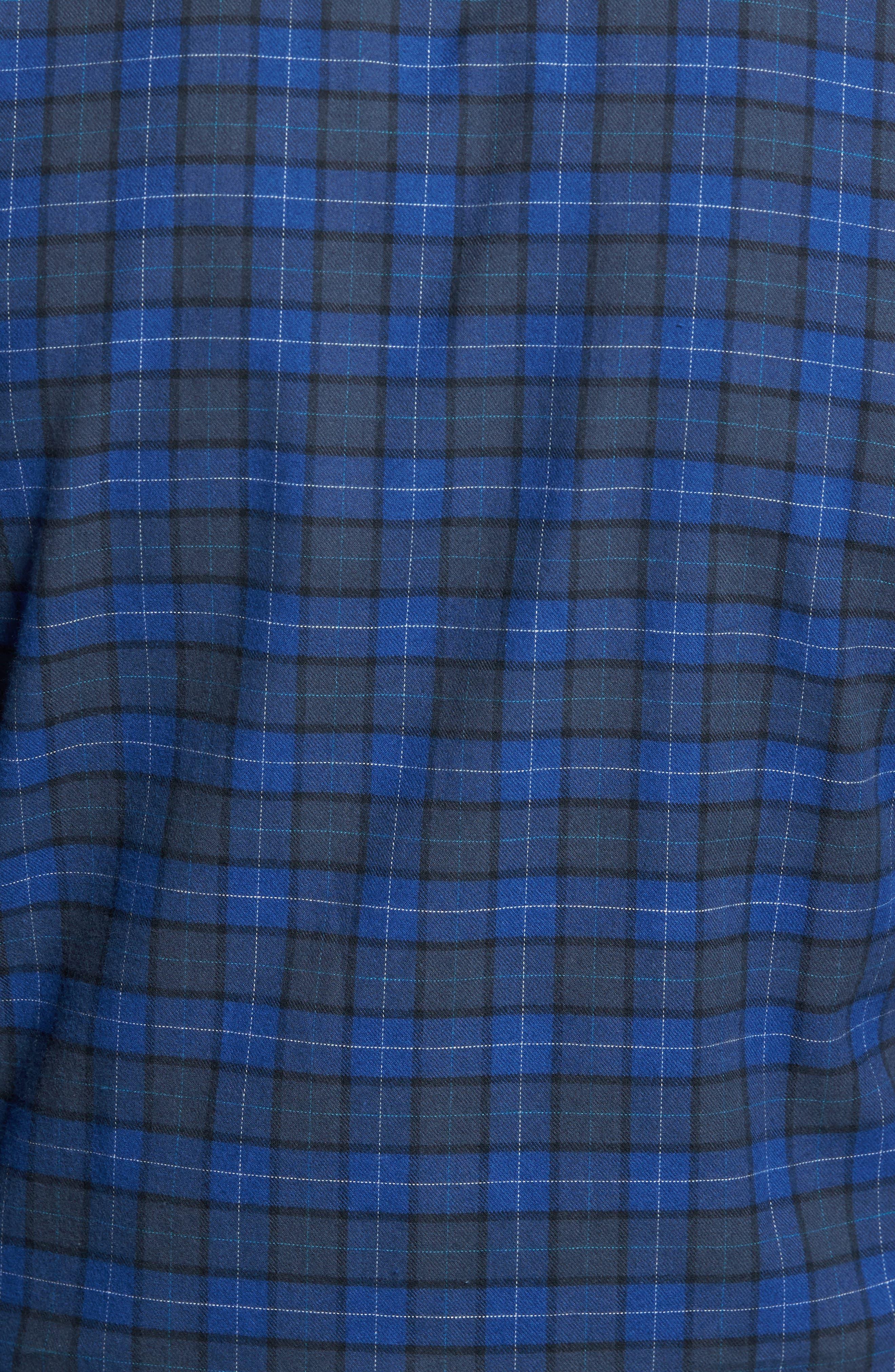 Cankton Plaid Sport Shirt,                             Alternate thumbnail 5, color,                             400