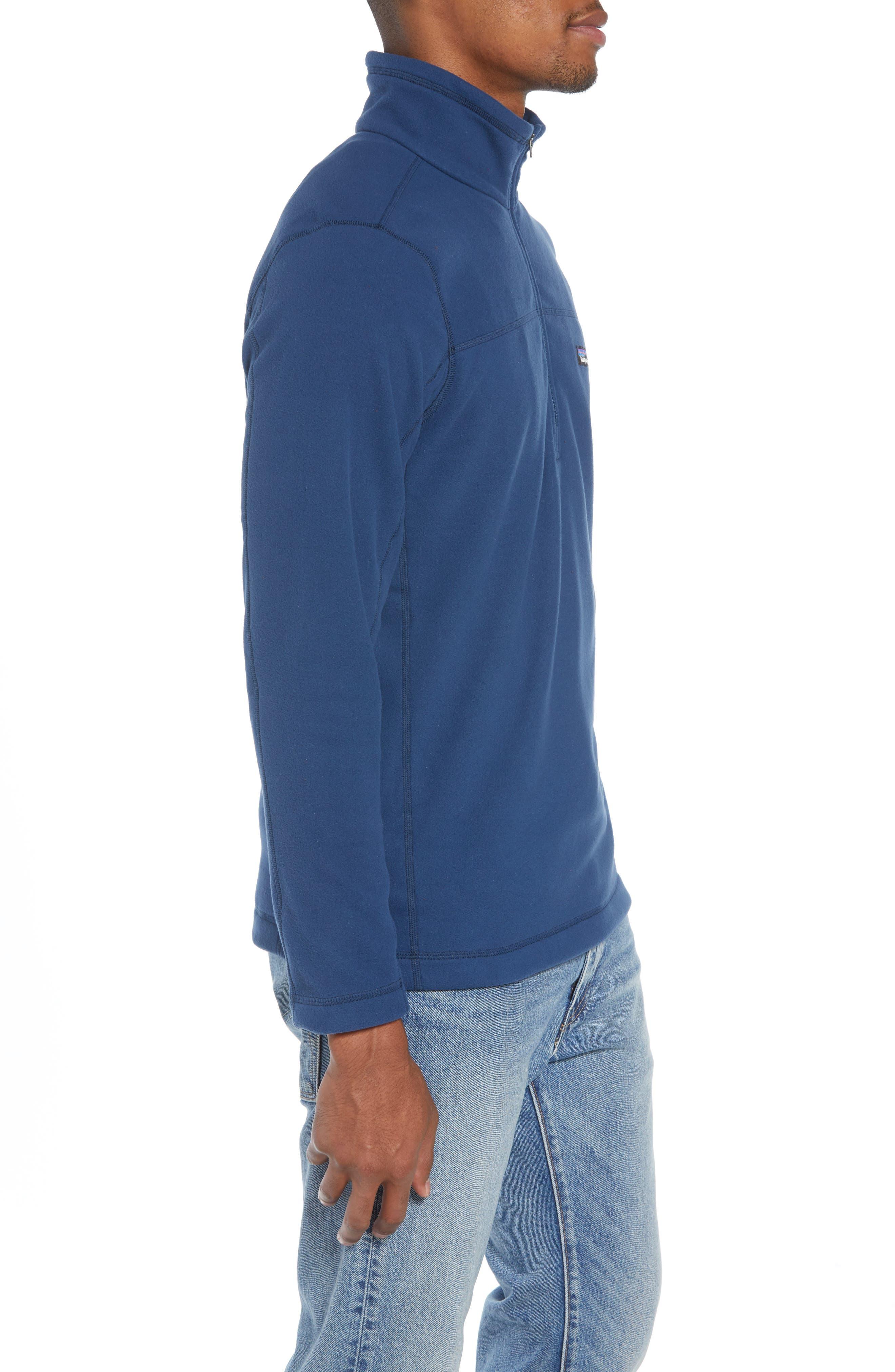 Fleece Pullover,                             Alternate thumbnail 3, color,                             STONE BLUE