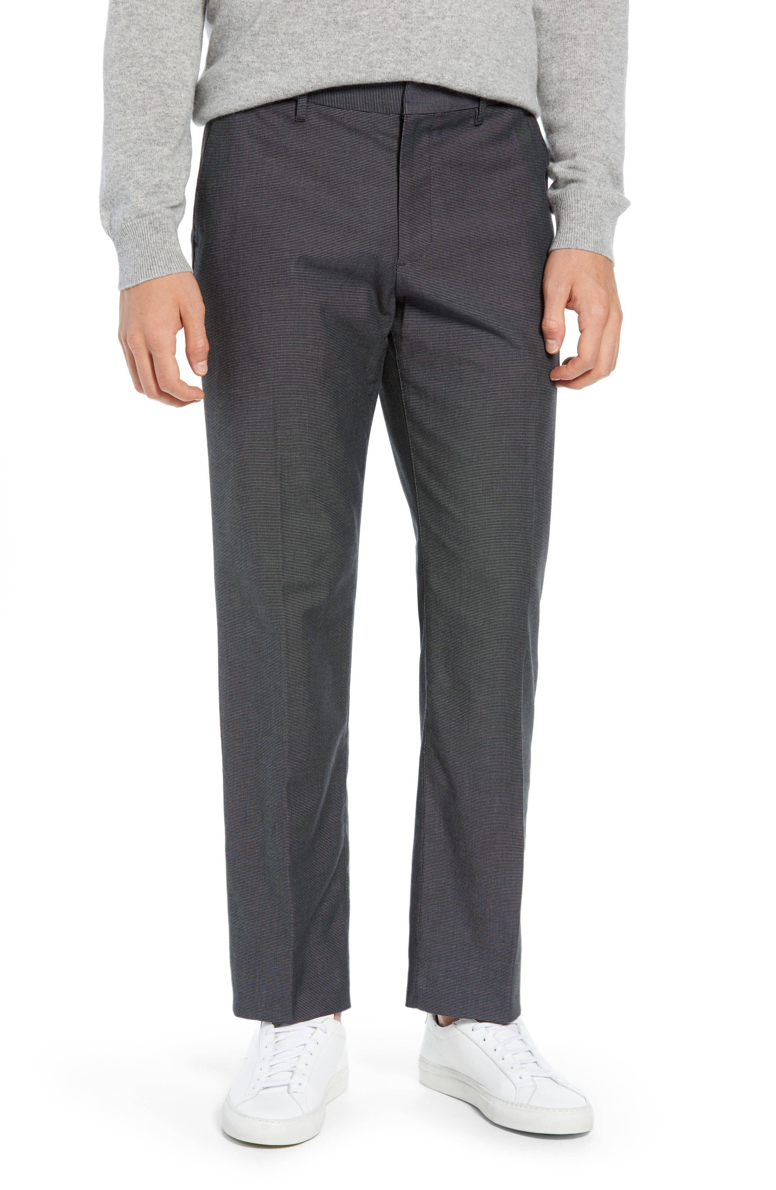 Weekday Warrior Straight Leg Stretch Dress Pants,                             Main thumbnail 1, color,                             TUESDAY CHARCOAL