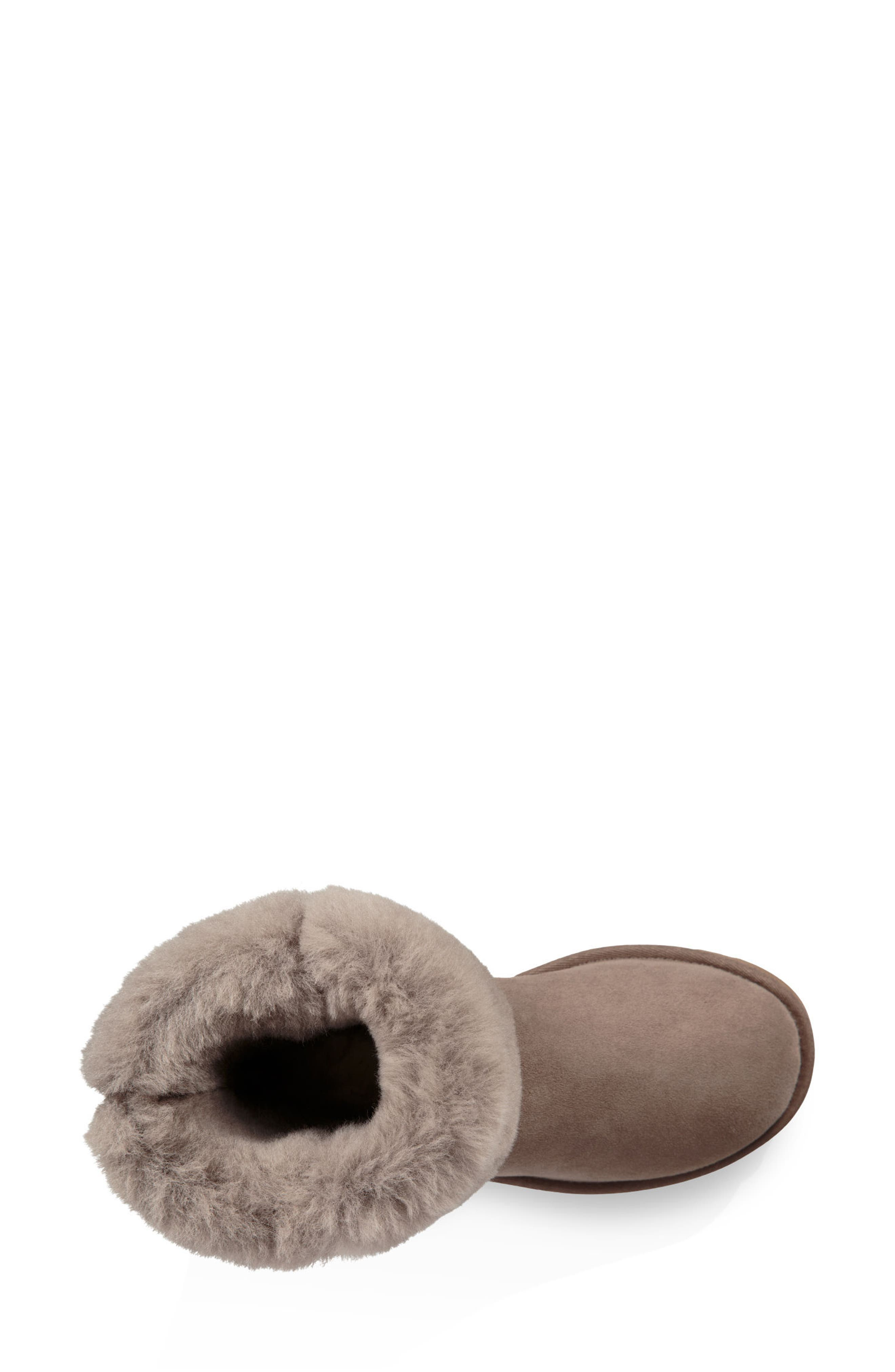 'Classic II' Genuine Shearling Lined Short Boot,                             Alternate thumbnail 5, color,                             BRINDLE SUEDE