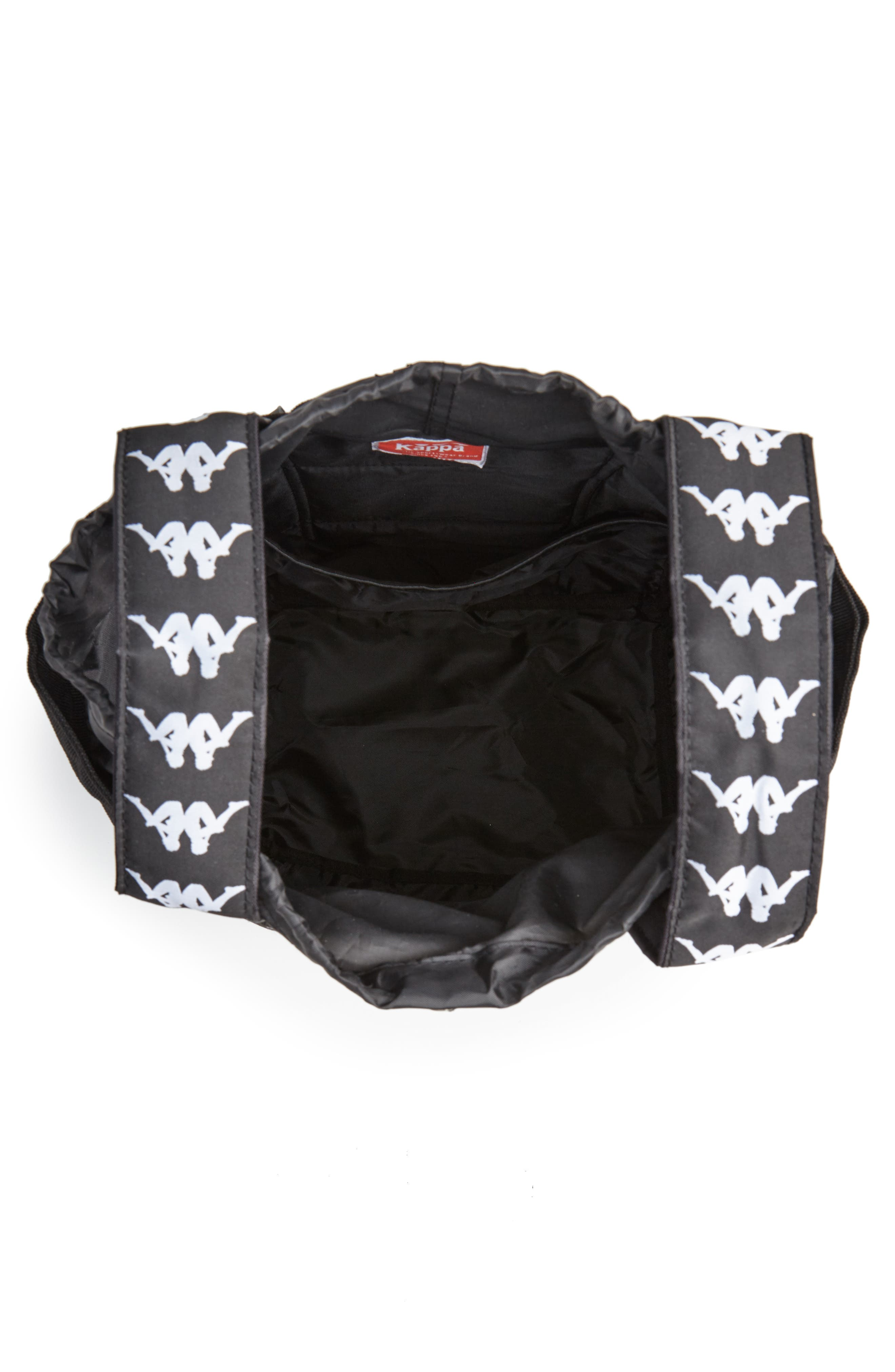 Medium Athletic Backpack,                             Alternate thumbnail 4, color,                             BLACK-WHITE