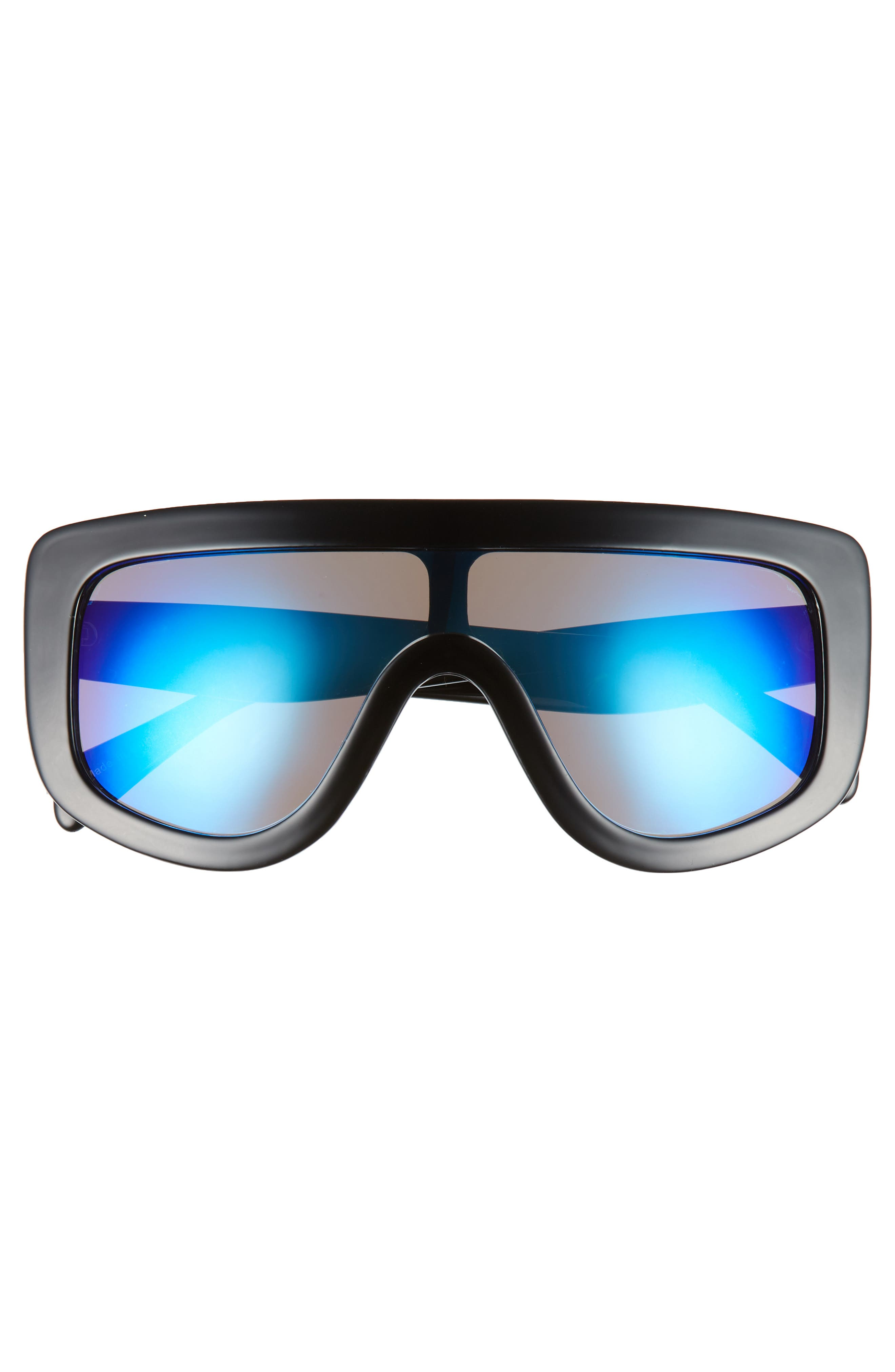 Goggle Shield Sunglasses,                             Alternate thumbnail 3, color,                             BLACK/ BLUE