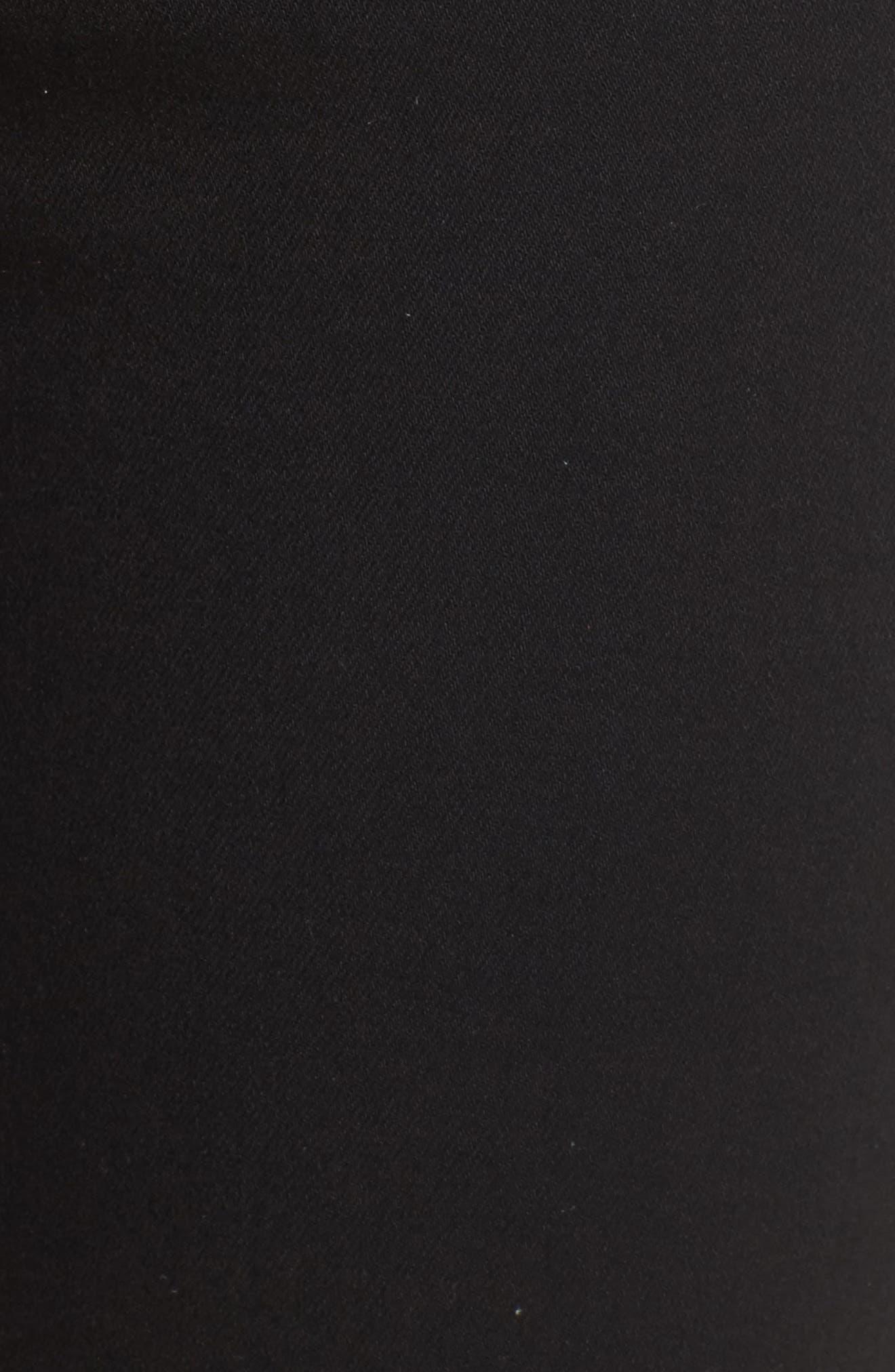 PAIGE,                             Transcend Hoxton High Waist Undone Hem Skinny Jeans,                             Alternate thumbnail 5, color,                             001