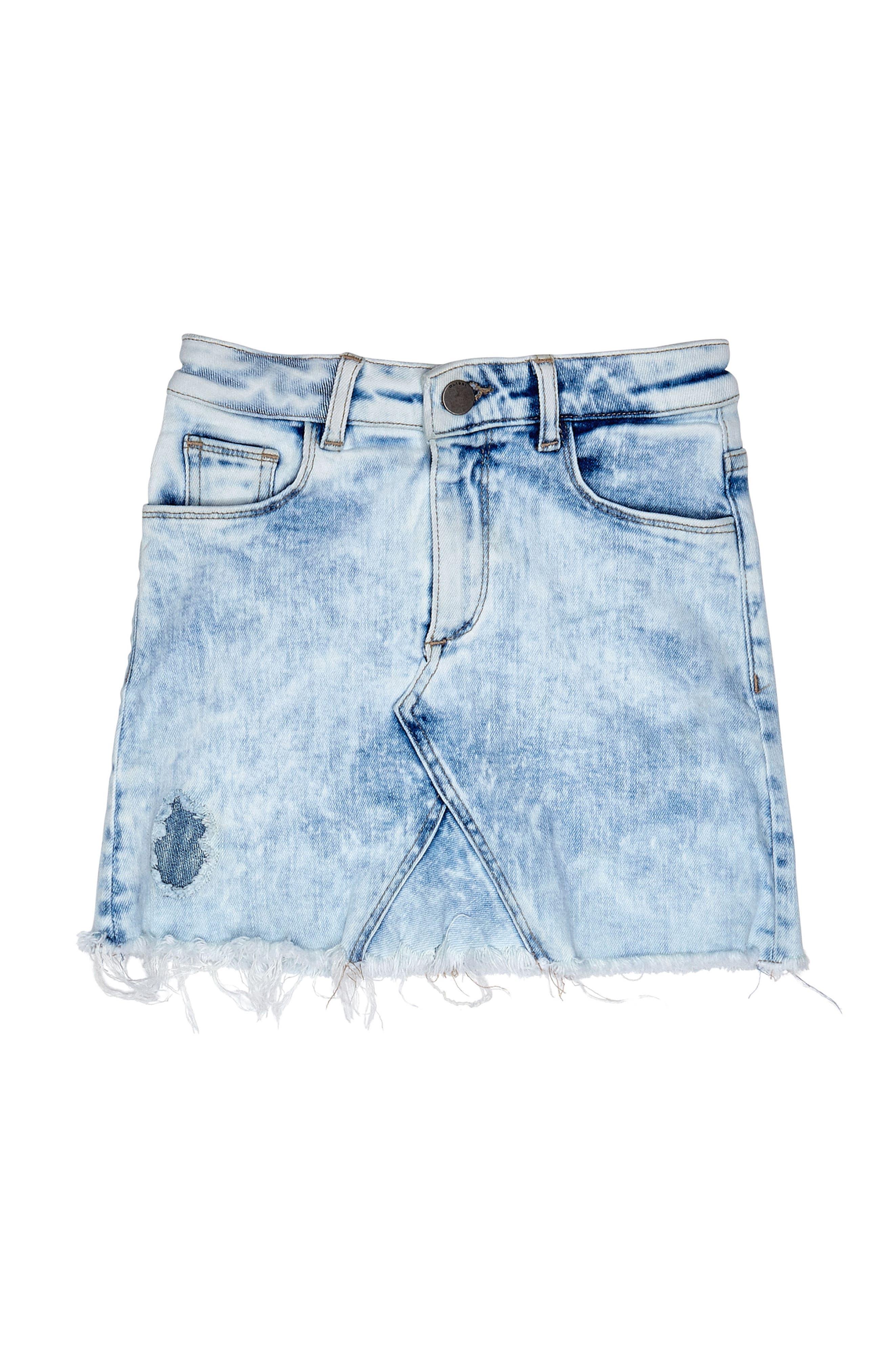 Cutoff Denim Skirt,                             Main thumbnail 1, color,                             430