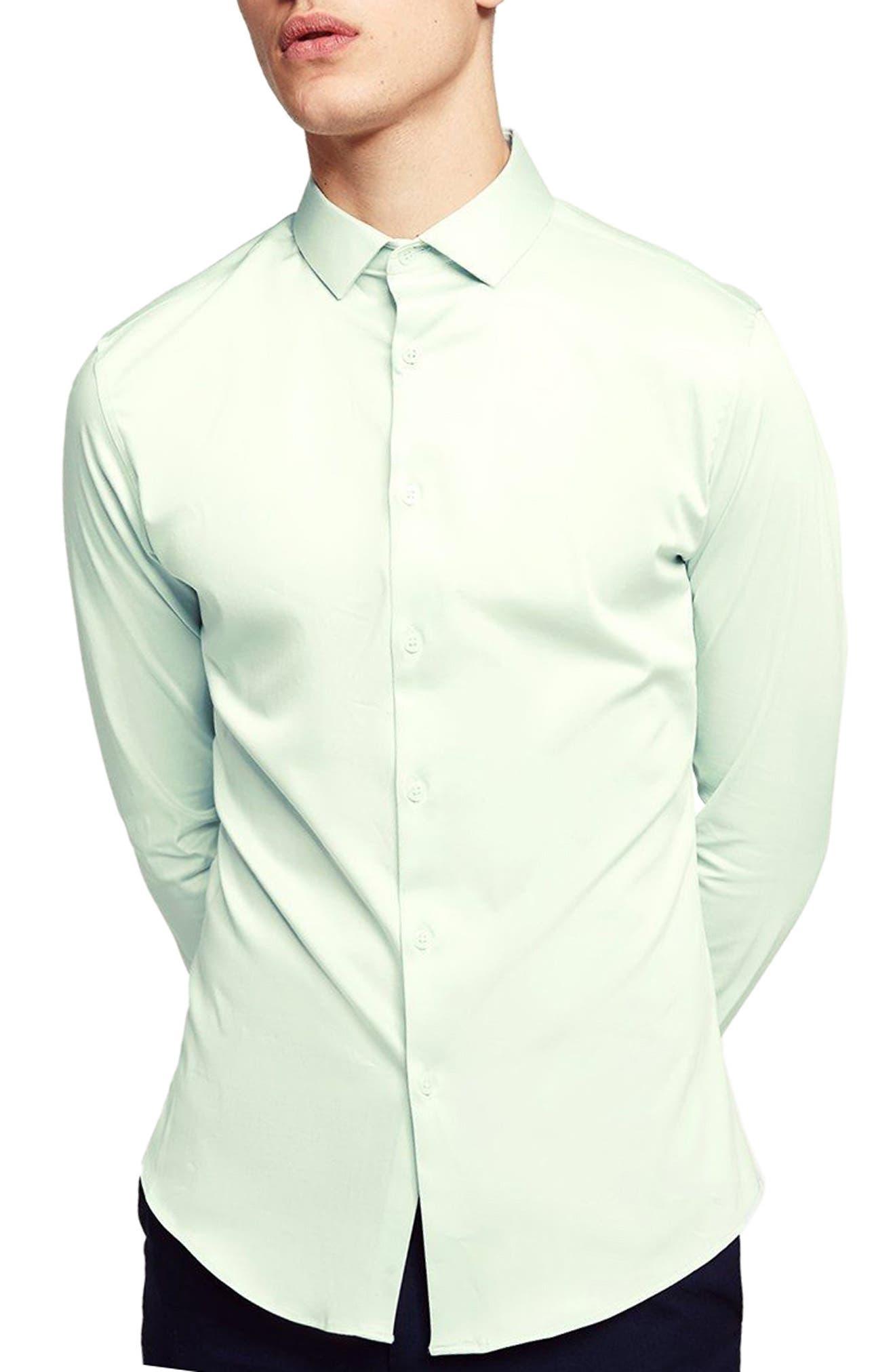 Stretch Cotton Shirt,                         Main,                         color, 330