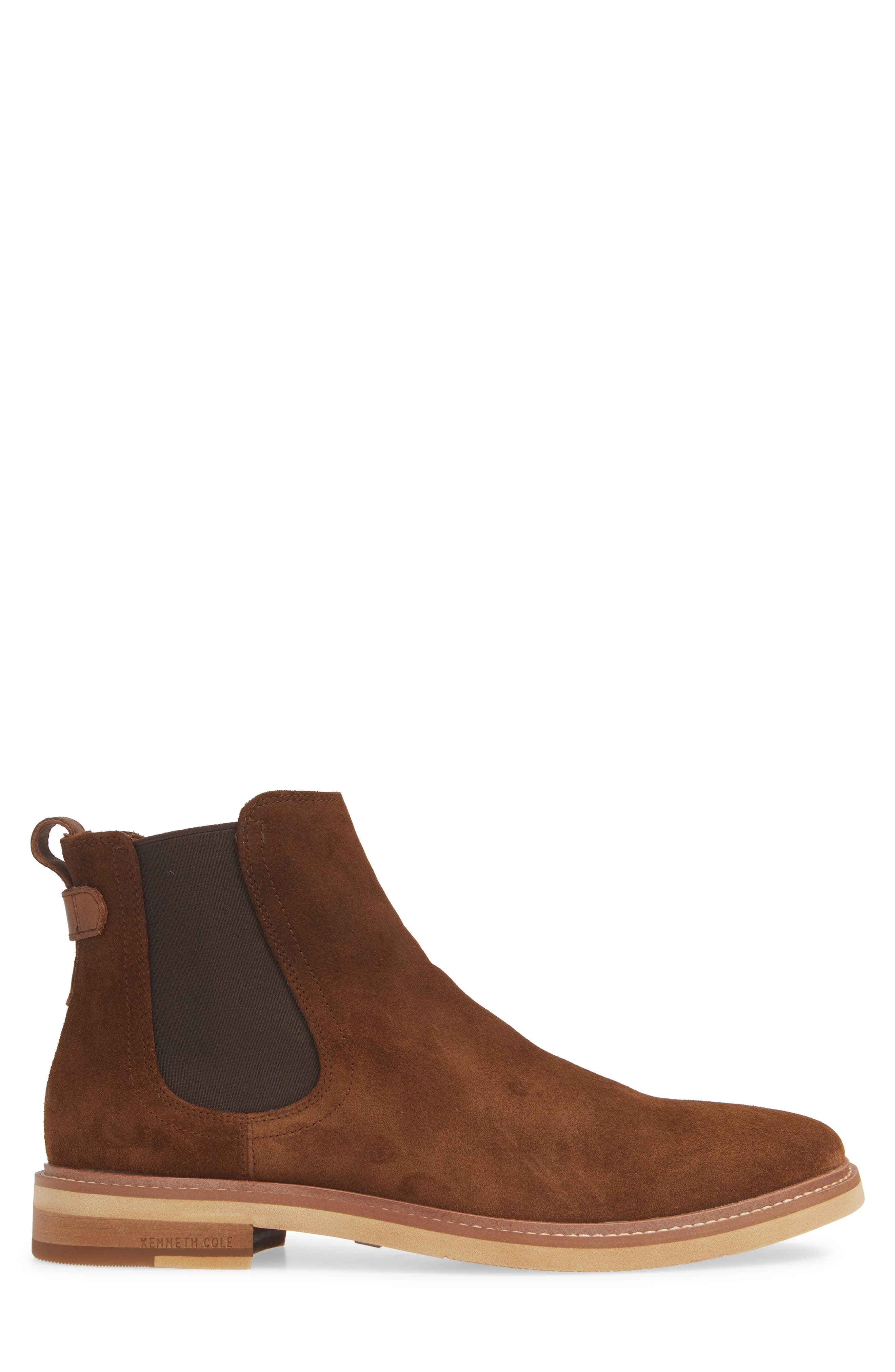 Whistler Mid Chelsea Boot,                             Alternate thumbnail 3, color,                             TOBACCO SUEDE