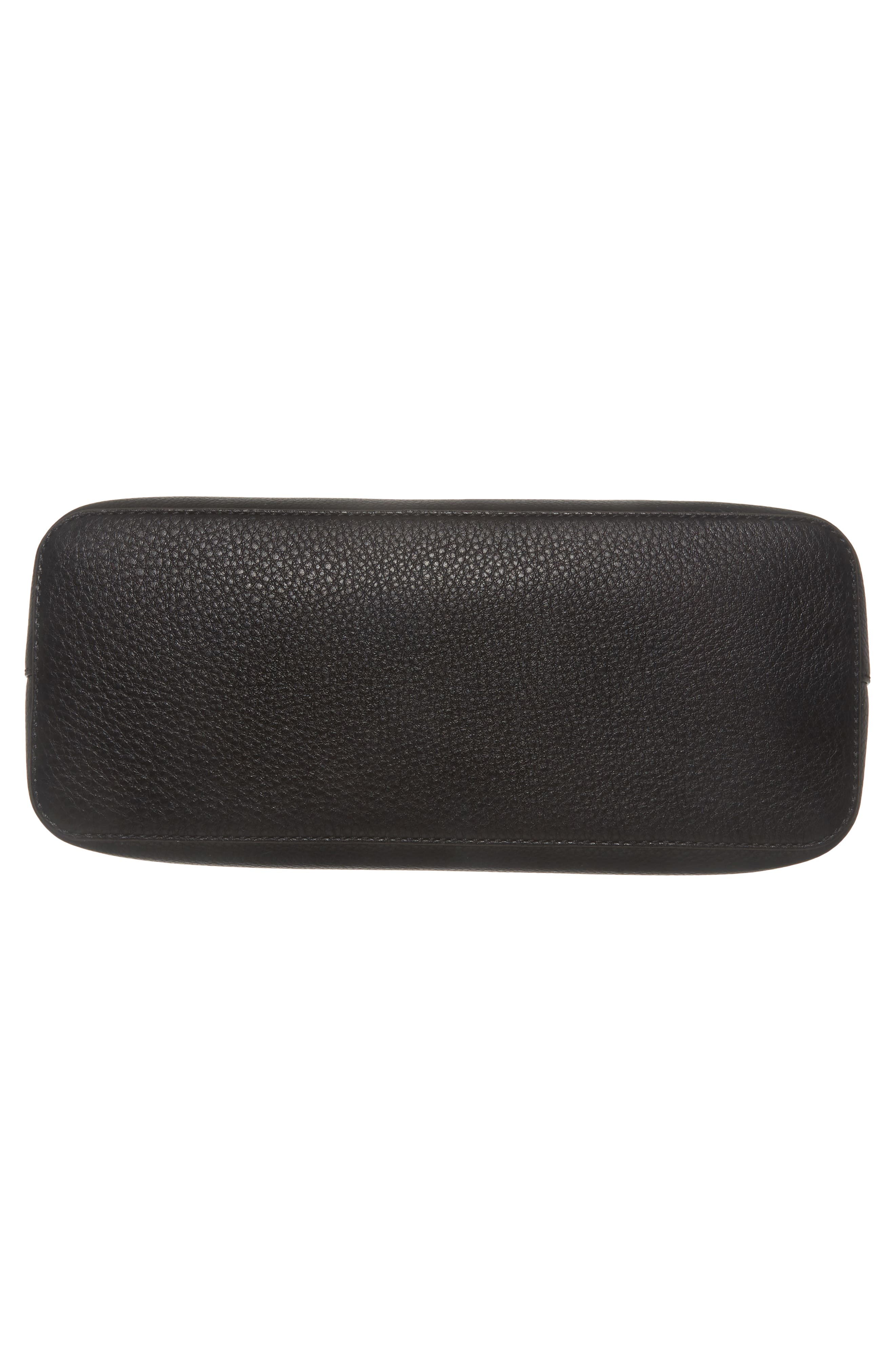 McGraw Slouchy Leather Satchel,                             Alternate thumbnail 6, color,                             BLACK