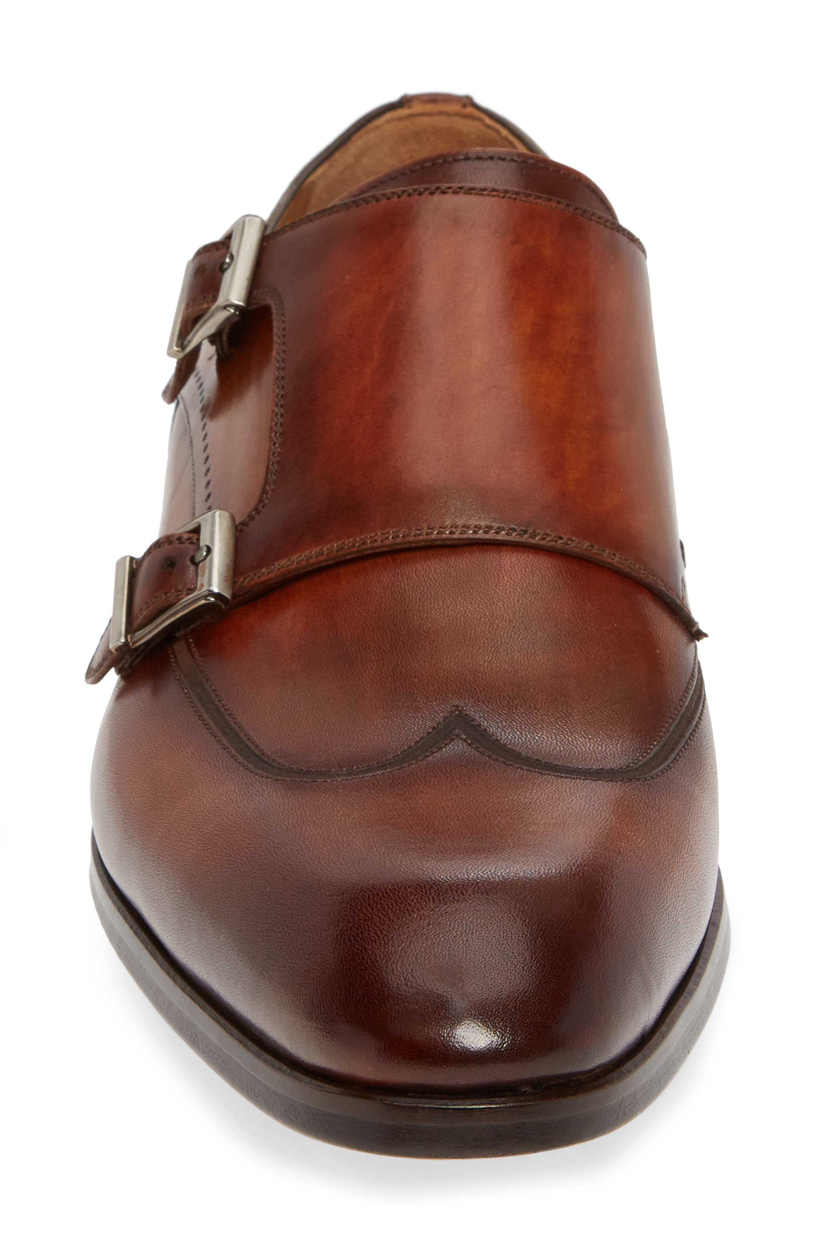 Camden Double Monk Strap Shoe,                             Alternate thumbnail 4, color,                             202