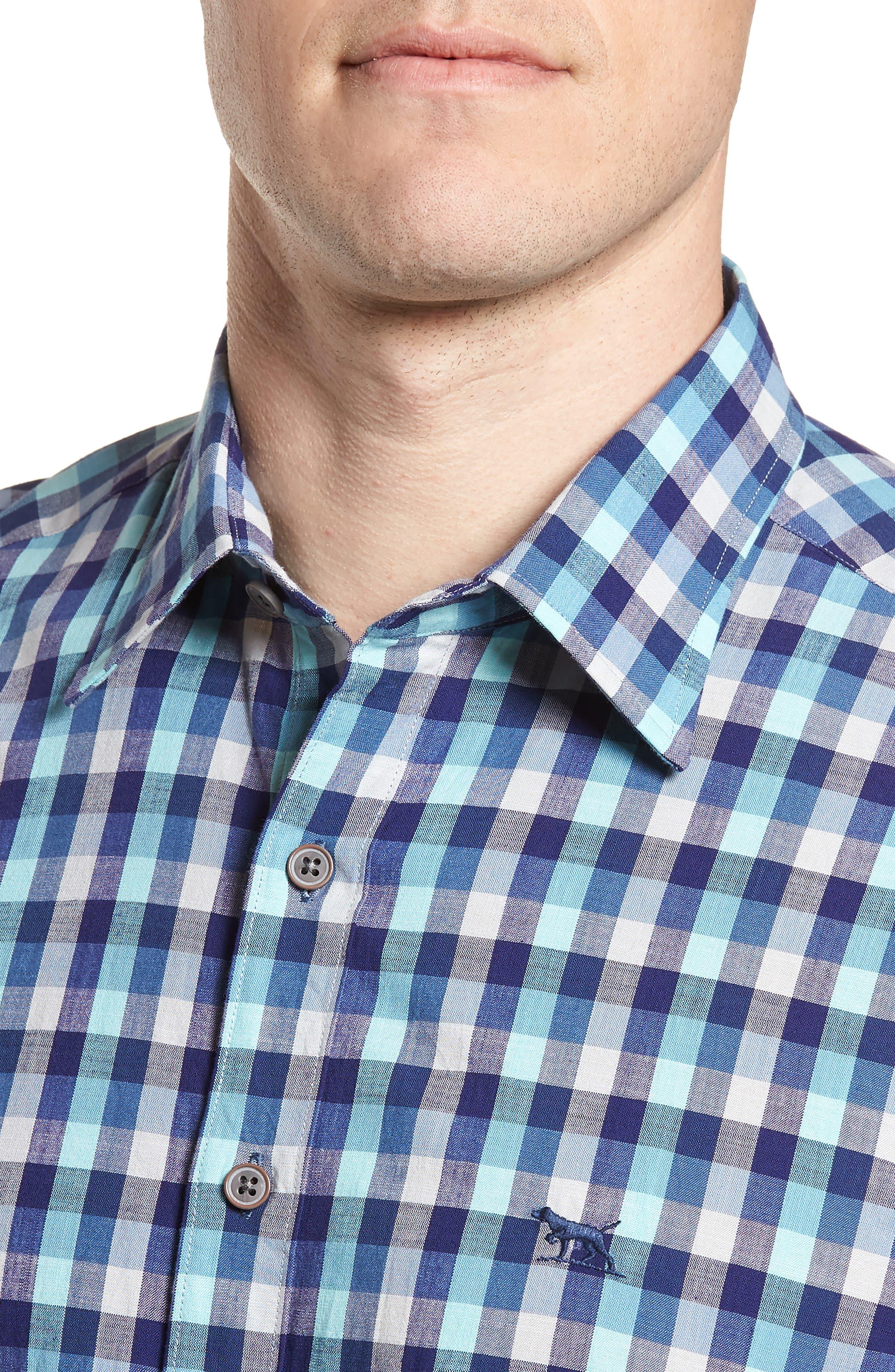 Larson Regular Fit Check Sport Shirt,                             Alternate thumbnail 4, color,