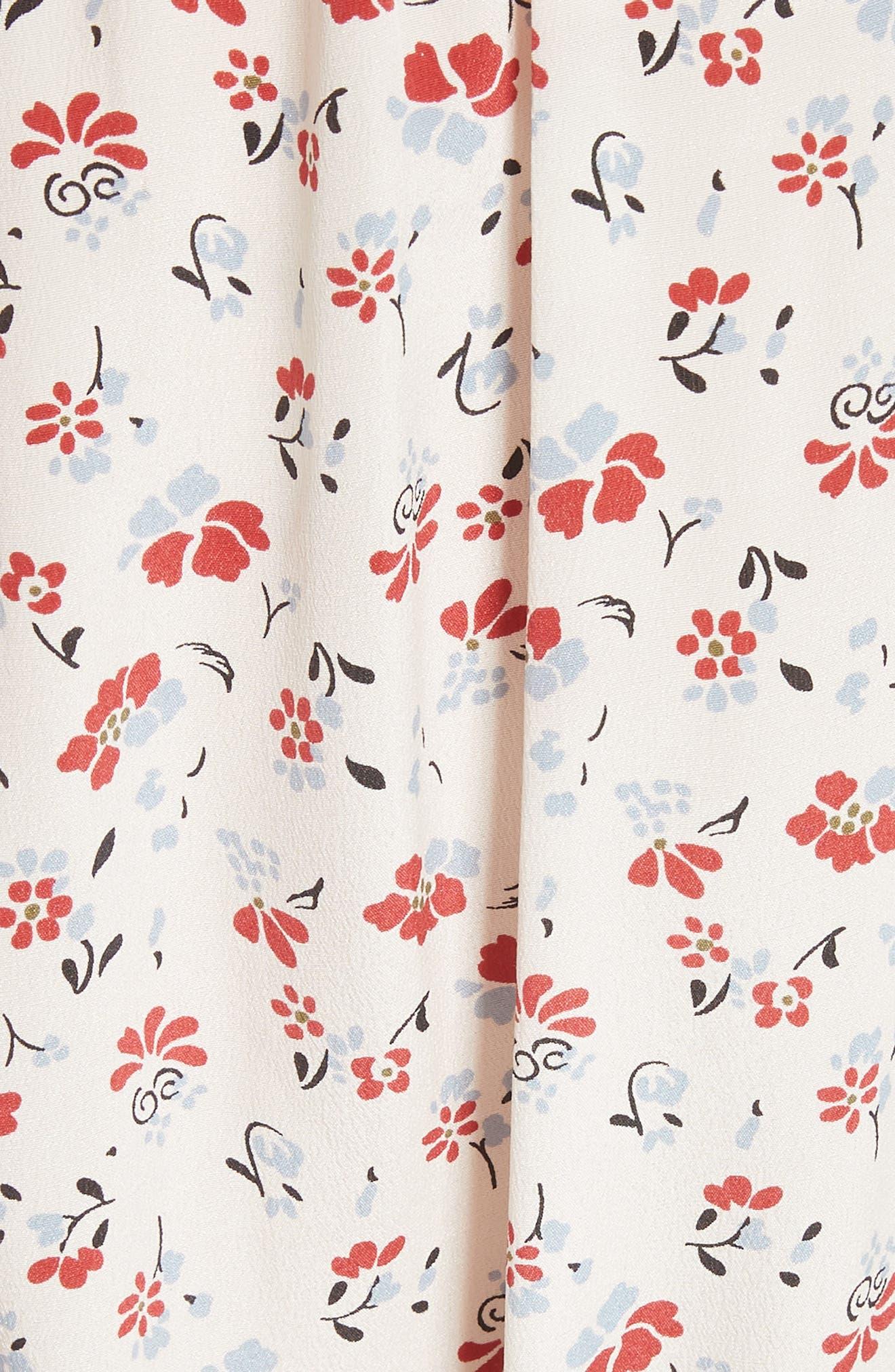 Howell Silk Blouse,                             Alternate thumbnail 5, color,                             WHITE MULTI