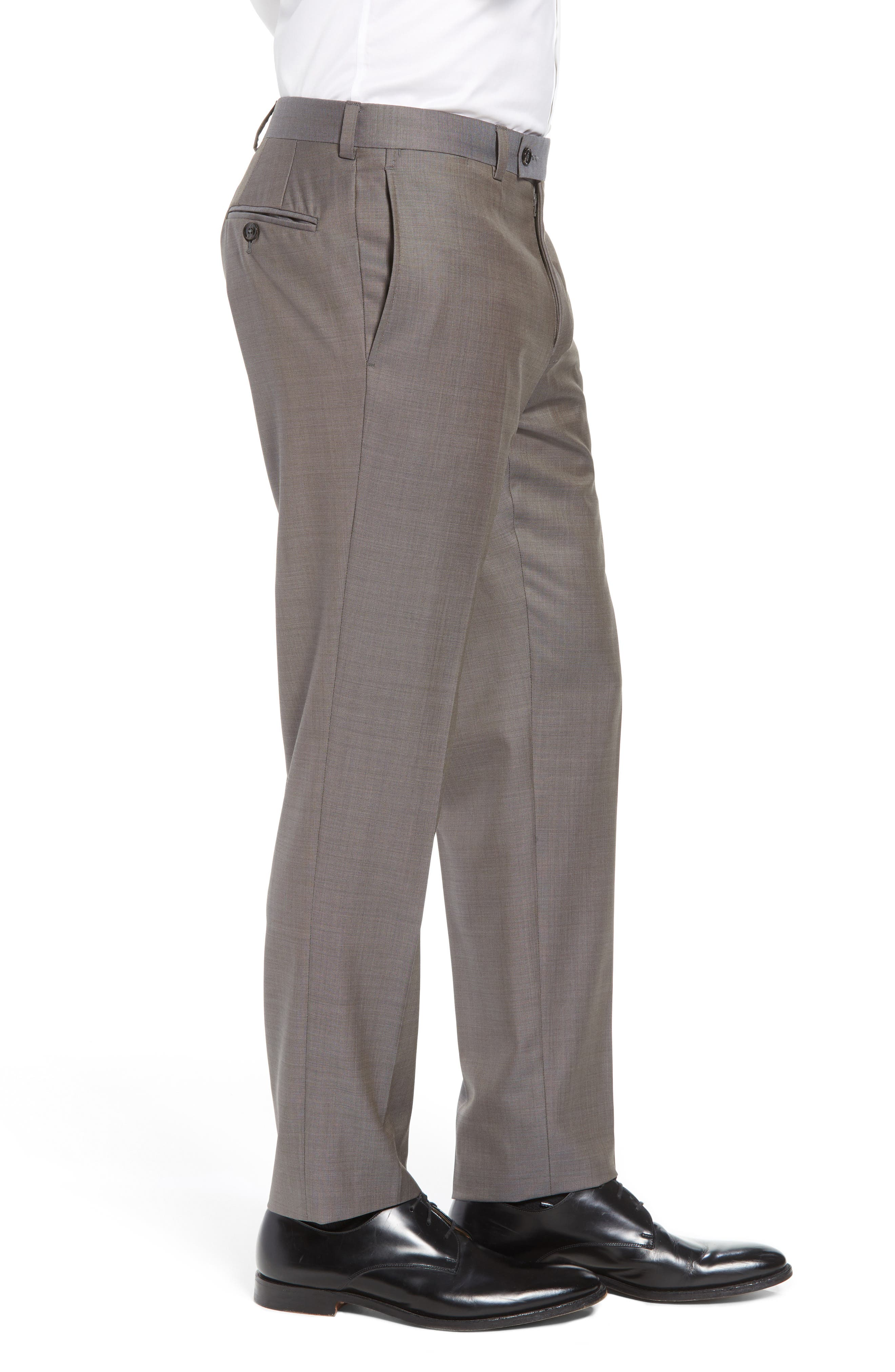 Jefferson Flat Front Wool Trousers,                             Alternate thumbnail 21, color,