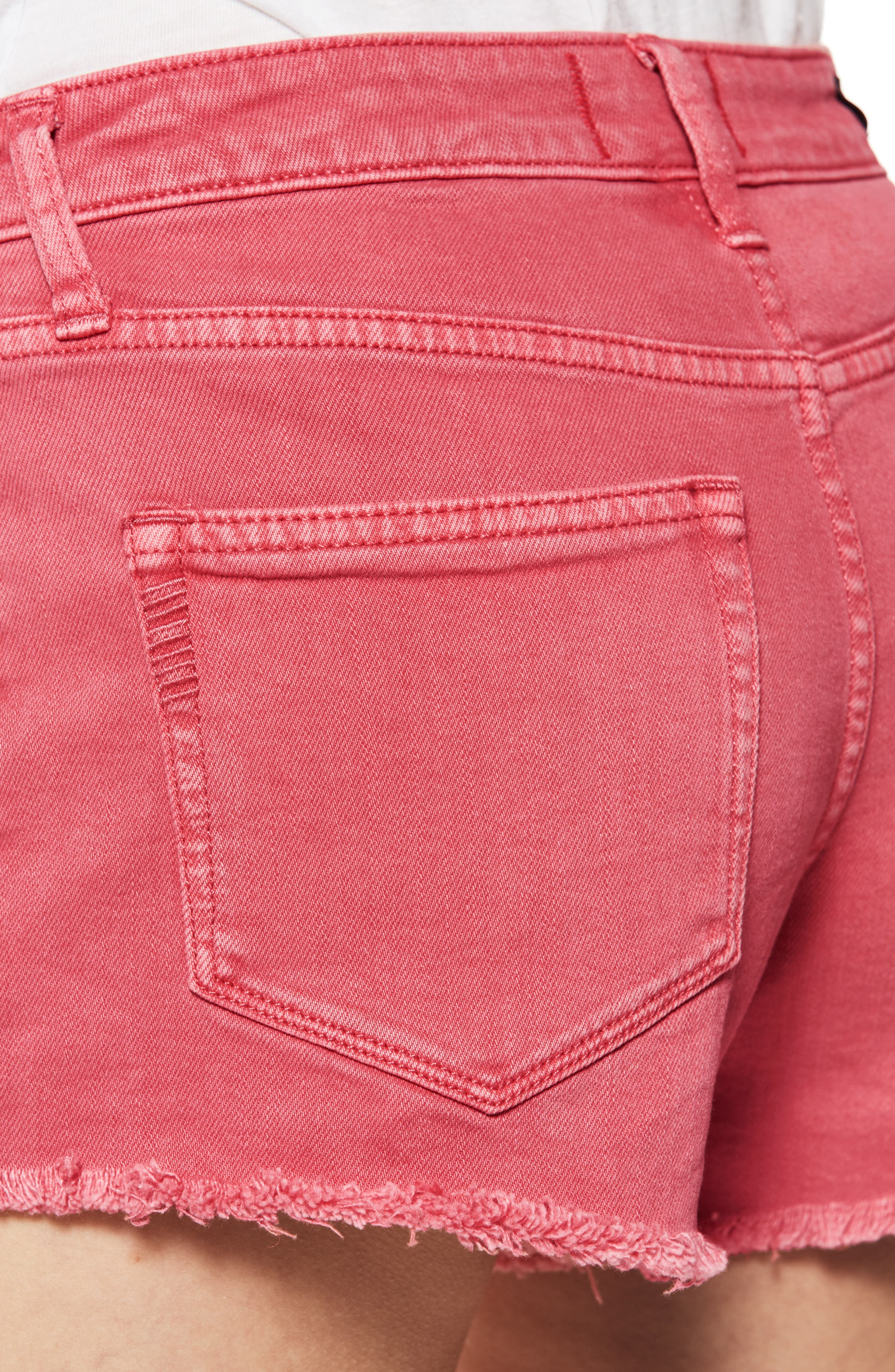 Emmit Relaxed Denim Shorts,                             Alternate thumbnail 4, color,                             601