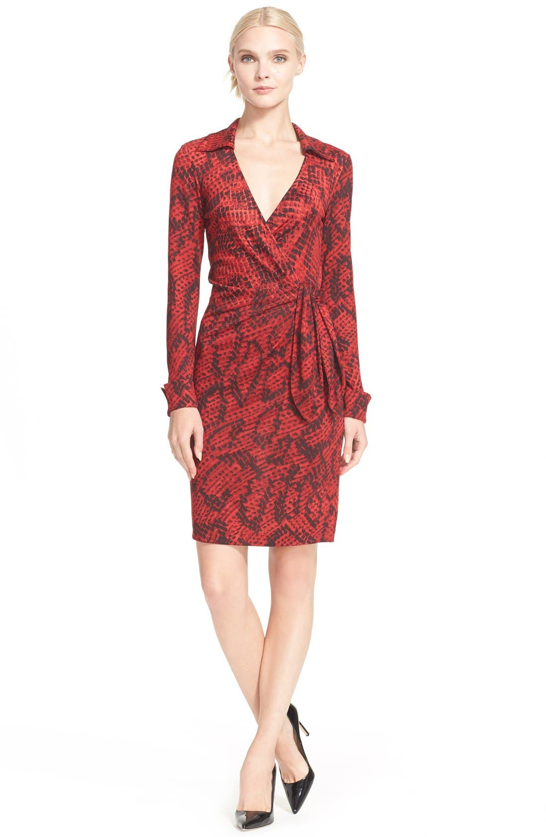 'Savannah' Snake Print Wrap Dress,                             Main thumbnail 1, color,                             605
