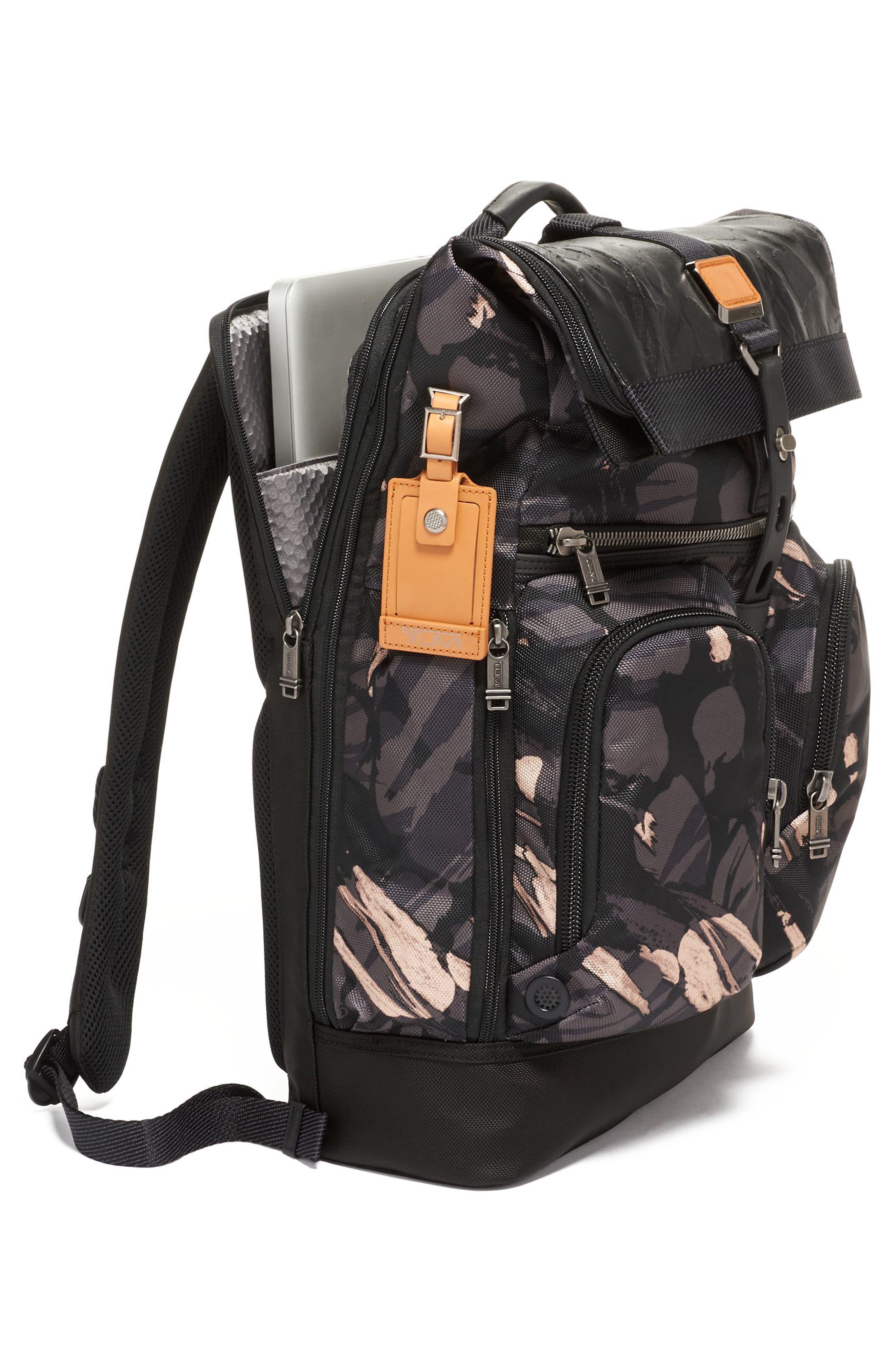 TUMI,                             Alpha Bravo London Backpack,                             Alternate thumbnail 6, color,                             GREY HIGHLANDS PRINT
