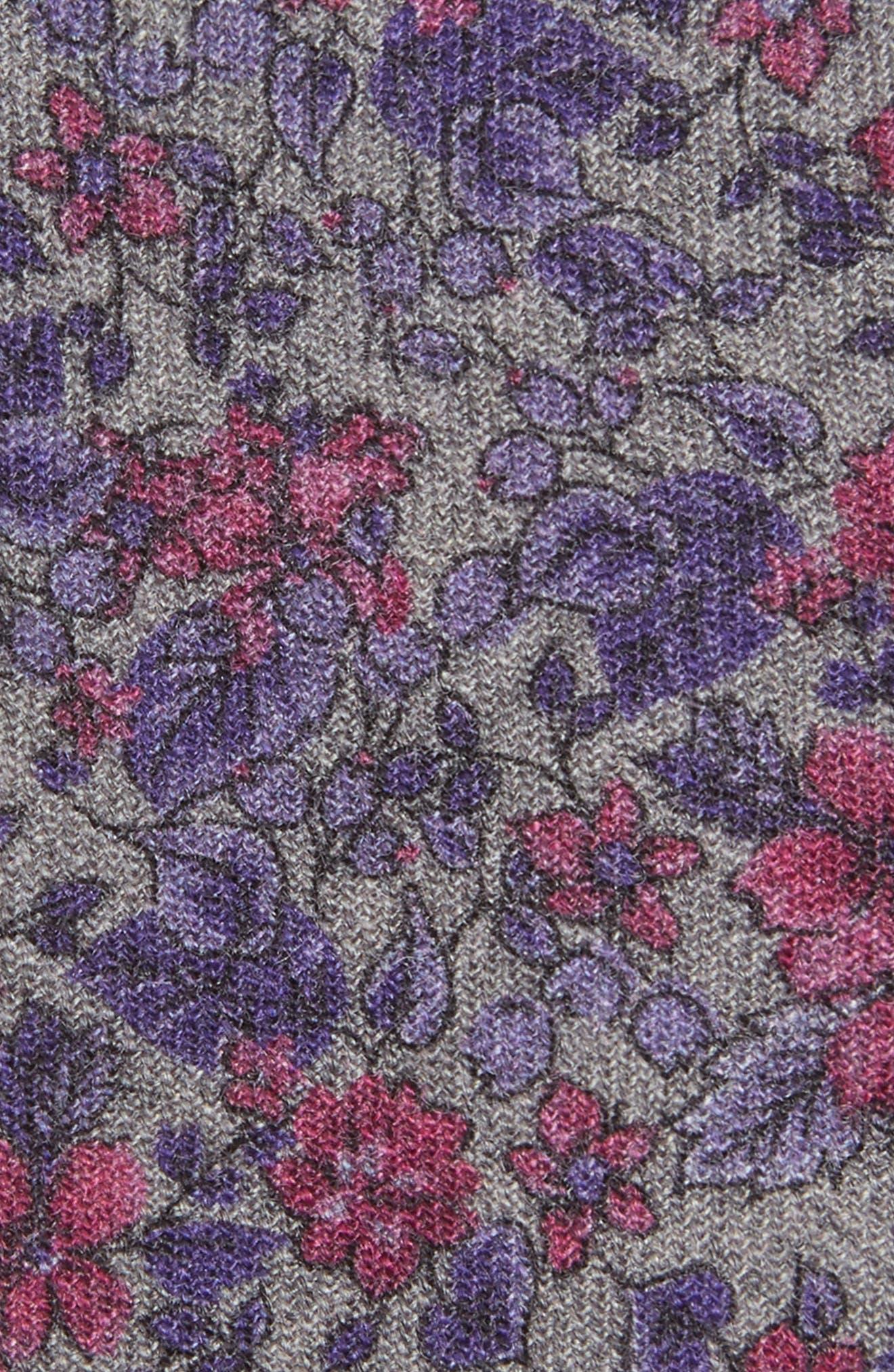 Vine Flower Wool Tie,                             Alternate thumbnail 2, color,                             020