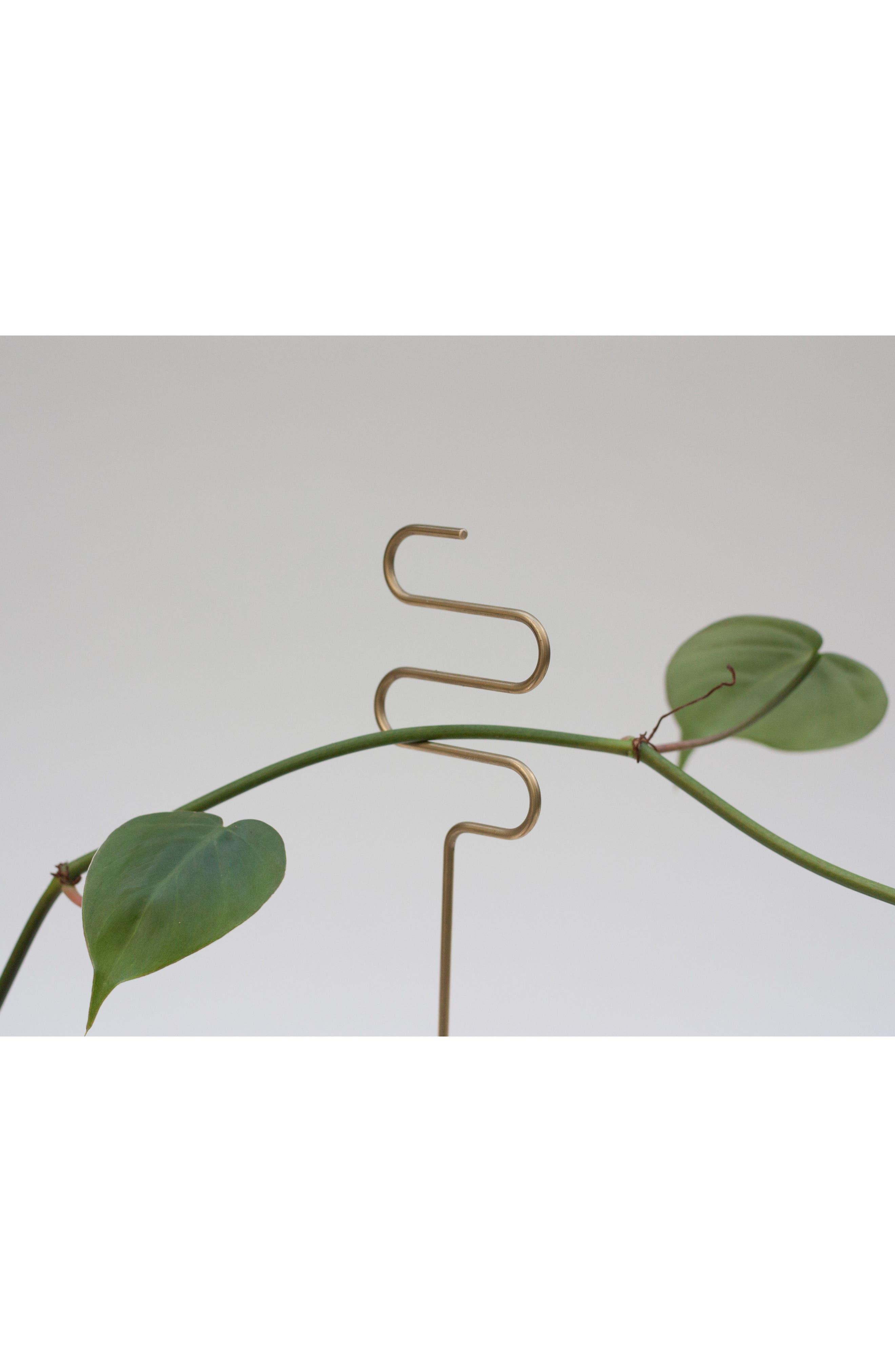 Set of 3 Plant Sticks,                             Alternate thumbnail 5, color,                             BRASS