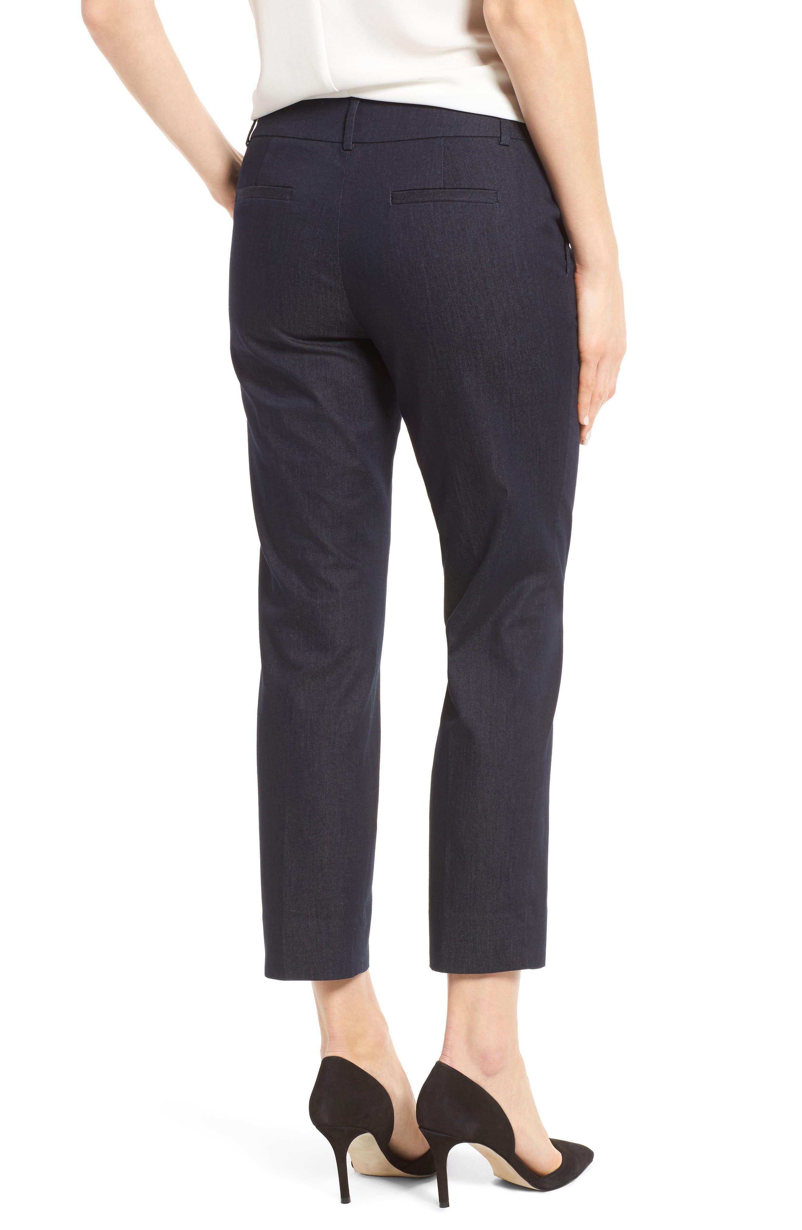 Crop Stretch Cotton Pants,                             Alternate thumbnail 37, color,