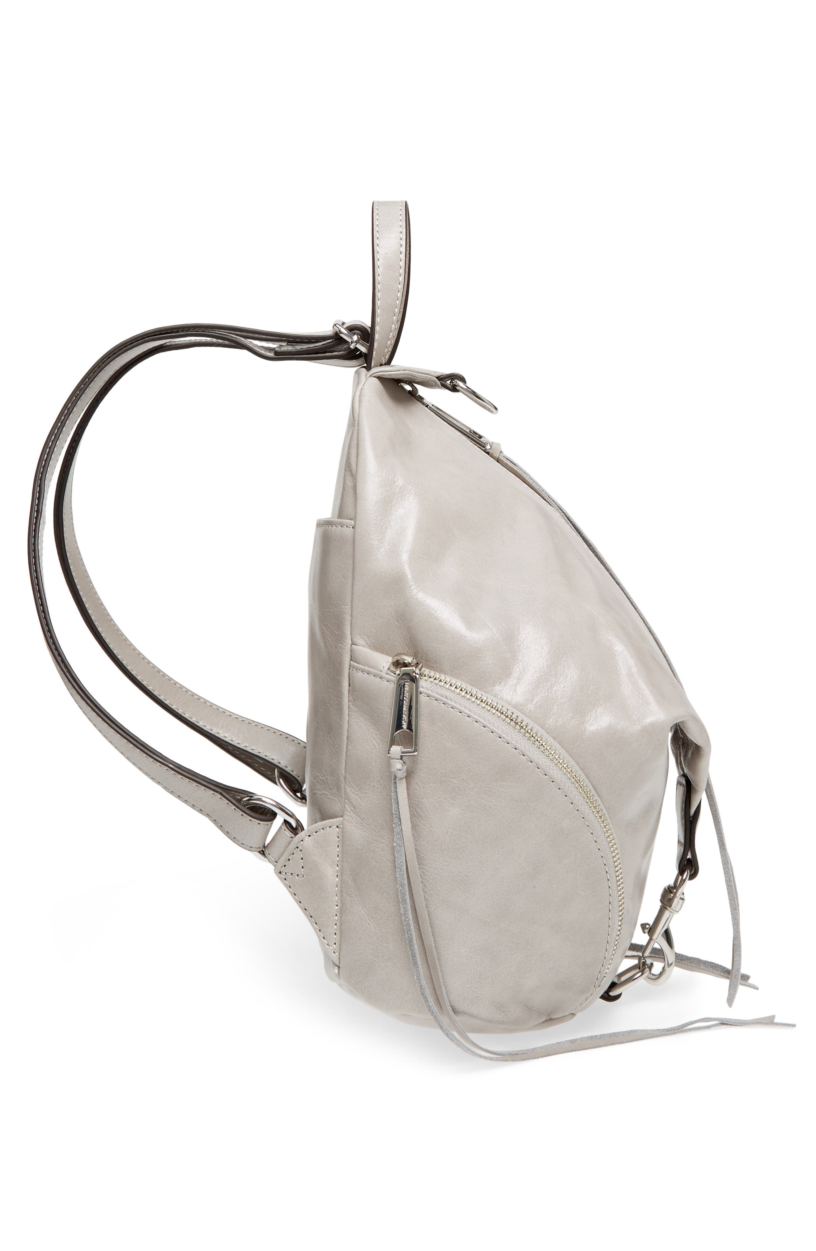 Medium Julian Leather Backpack,                             Alternate thumbnail 5, color,                             090