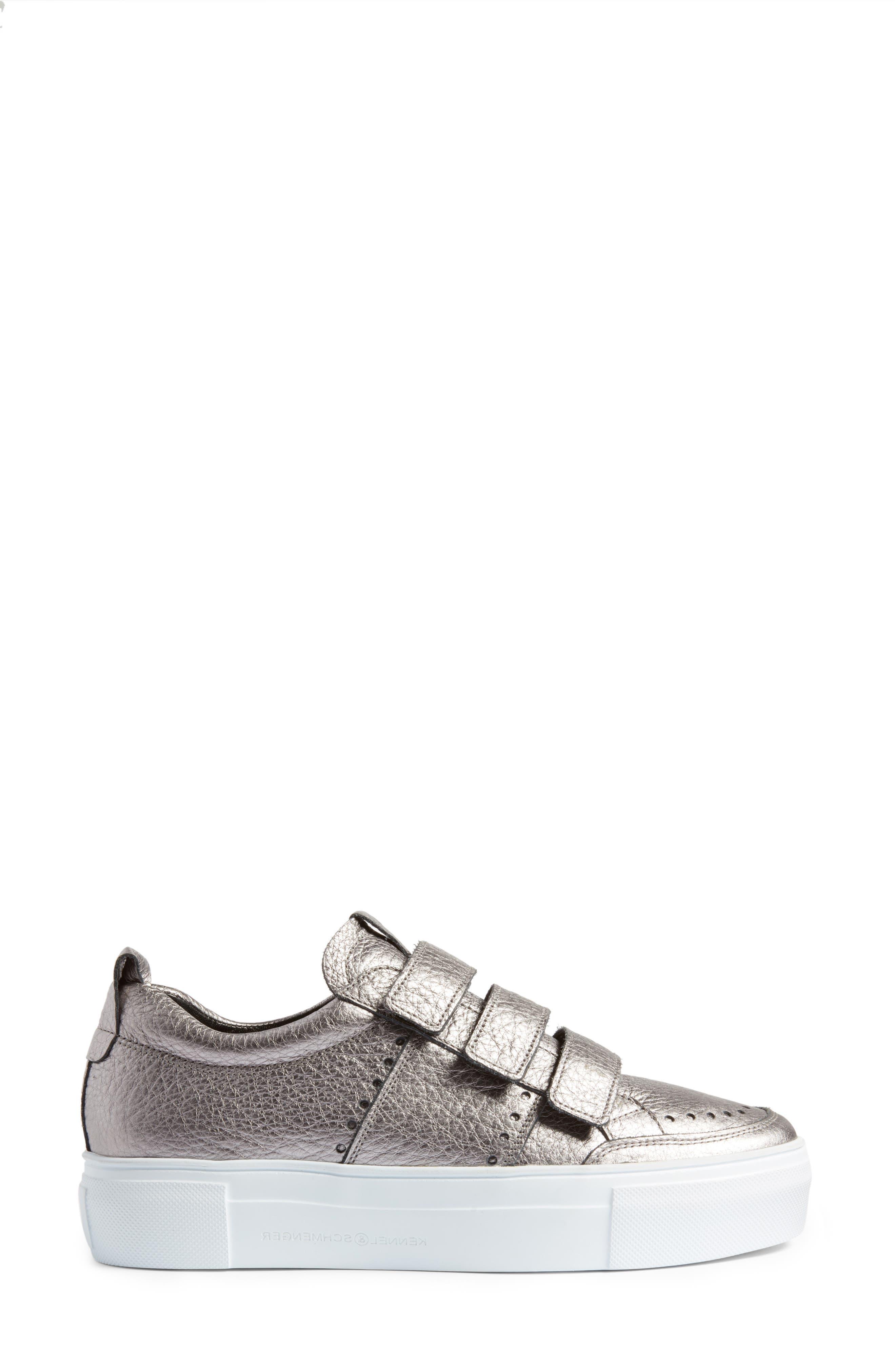Kennel & Schmenger Big Low Top Tab Sneaker,                             Alternate thumbnail 3, color,                             020