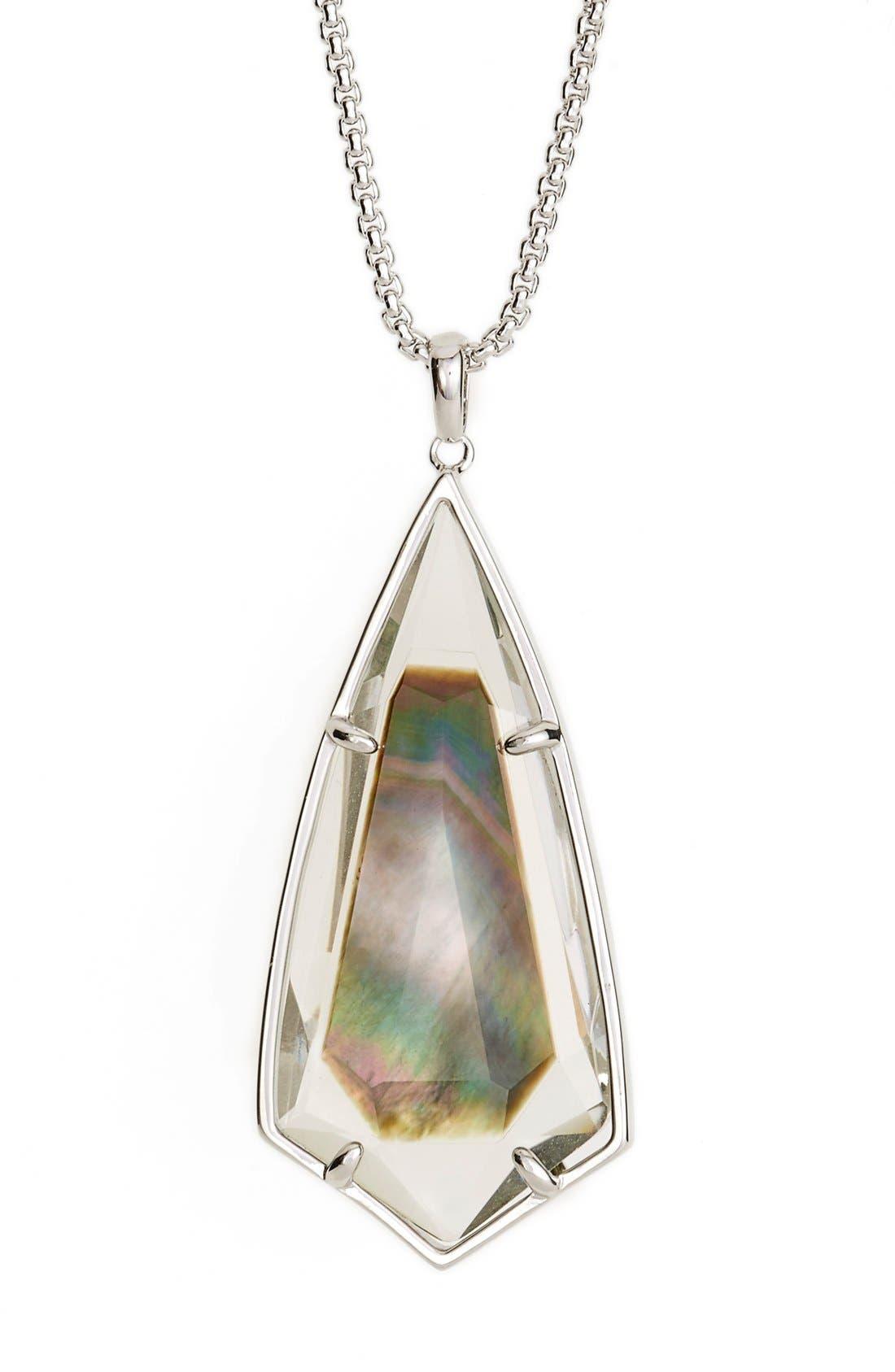 'Carole' Long Semiprecious Stone Pendant Necklace,                             Alternate thumbnail 16, color,