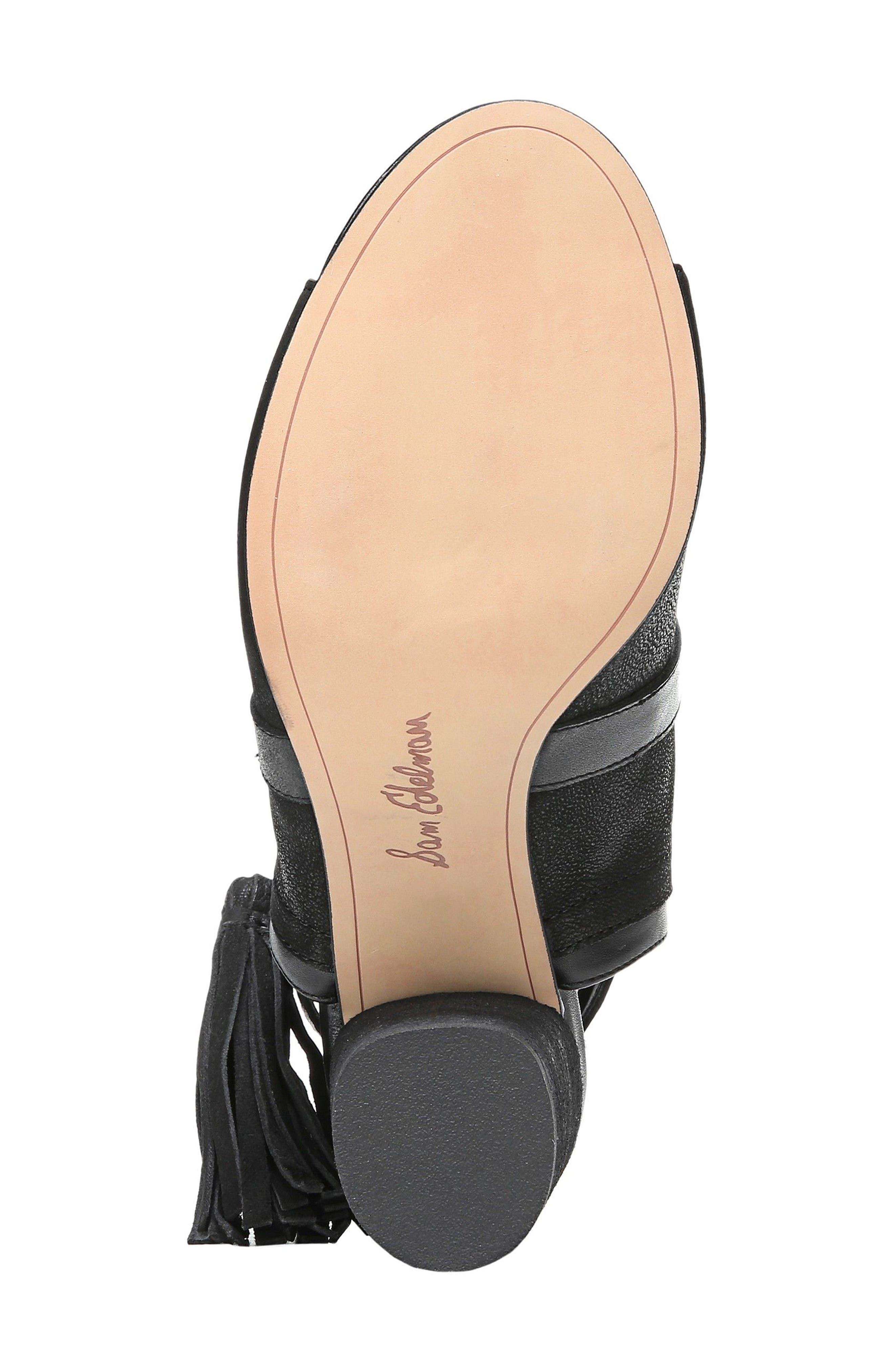 Vermont Block Heel Sandal,                             Alternate thumbnail 6, color,                             001