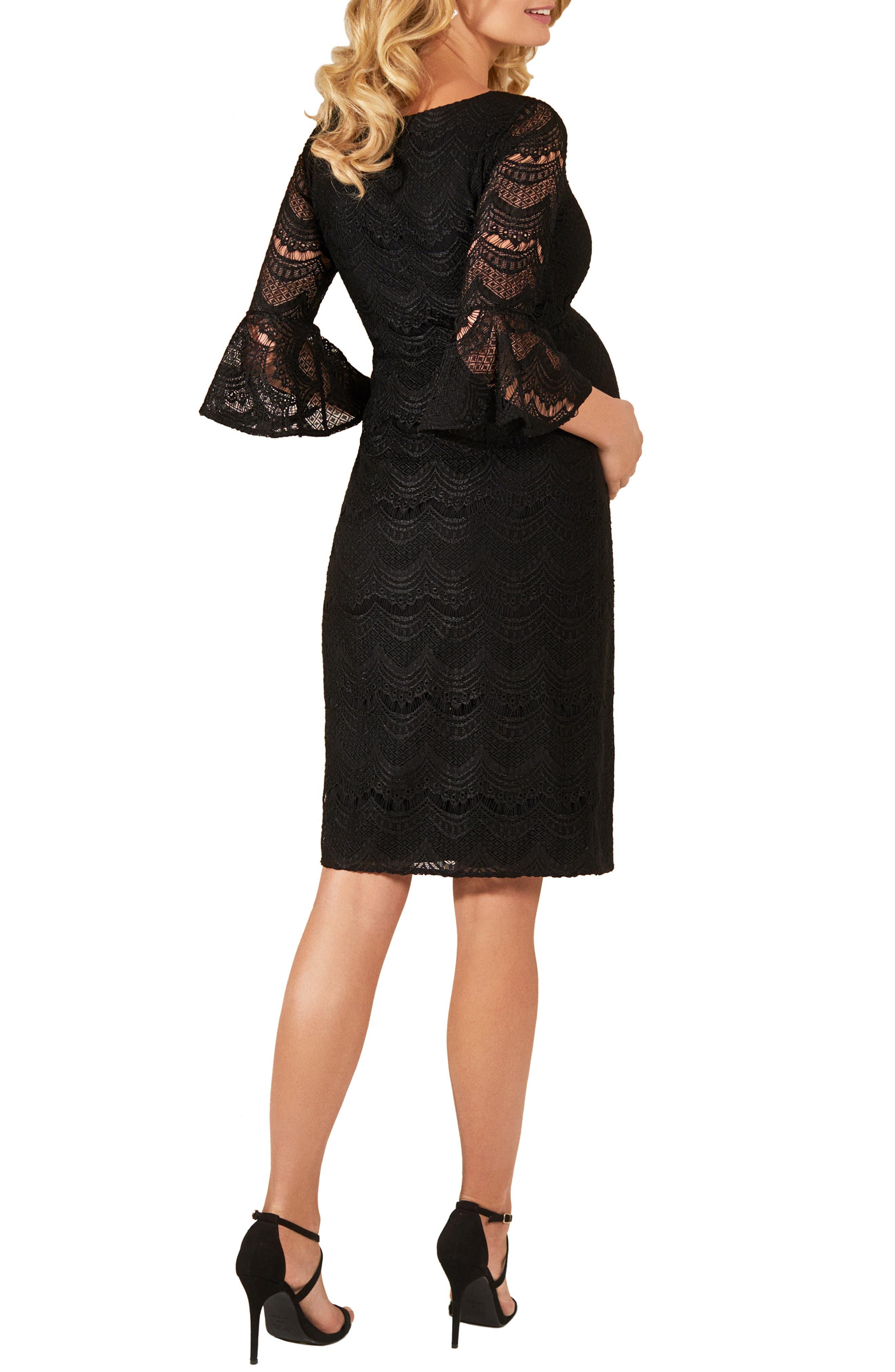 TIFFANY ROSE,                             Jane Lace Maternity Dress,                             Alternate thumbnail 2, color,                             BLACK