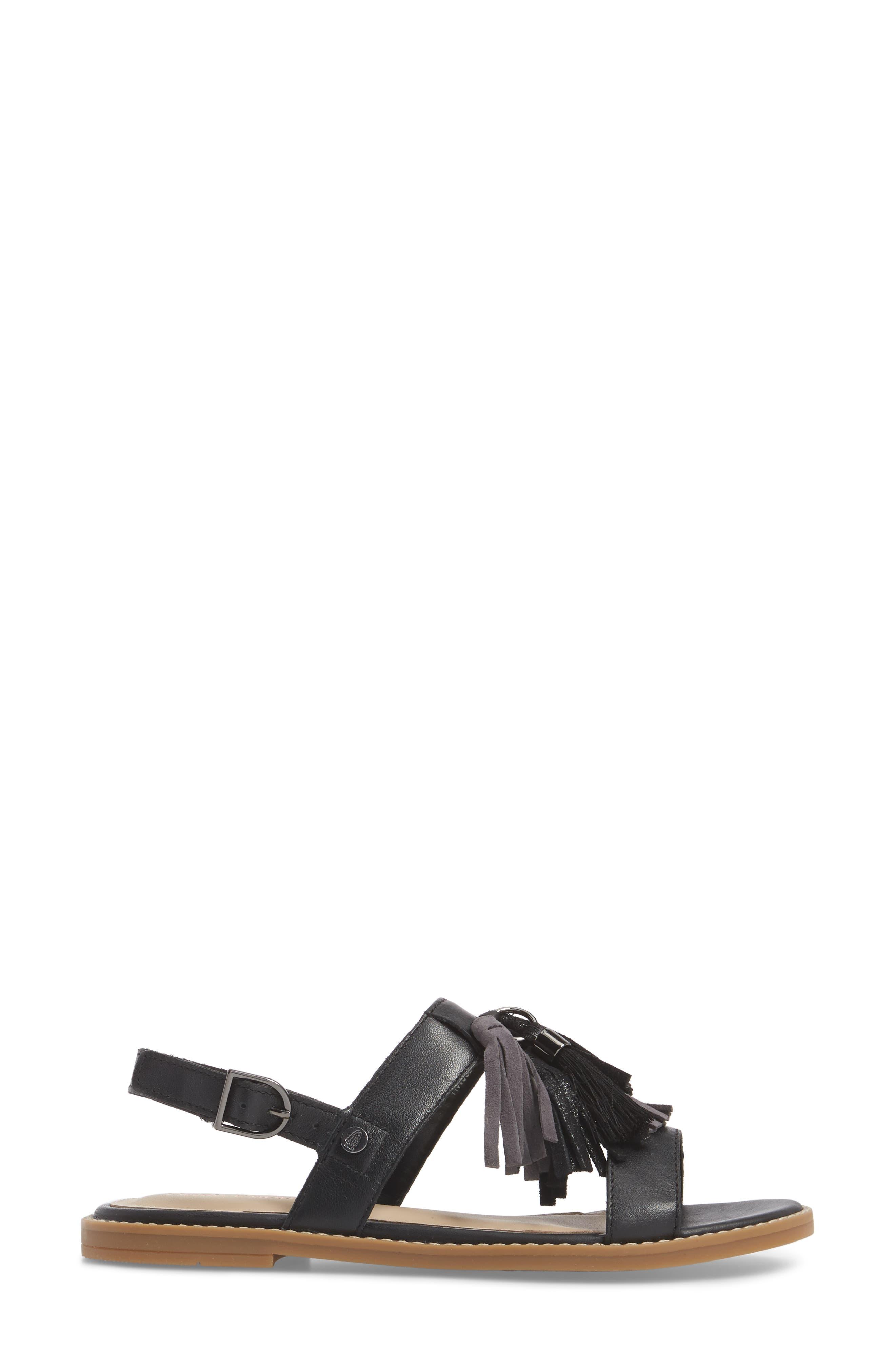 Chrissie Tassel Sandal,                             Alternate thumbnail 3, color,                             007