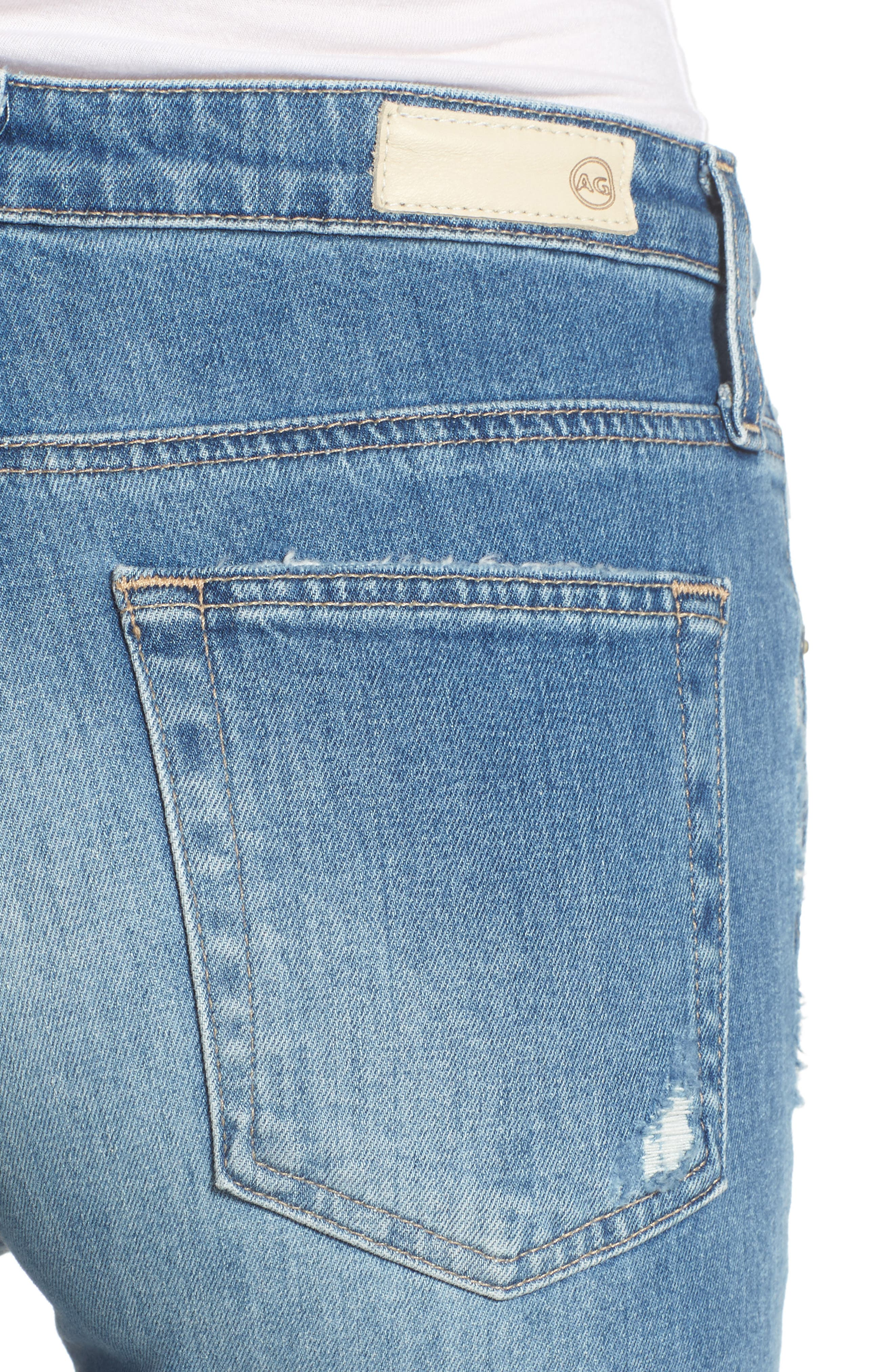 The Isabelle High Waist Crop Straight Leg Jeans,                             Alternate thumbnail 4, color,                             463