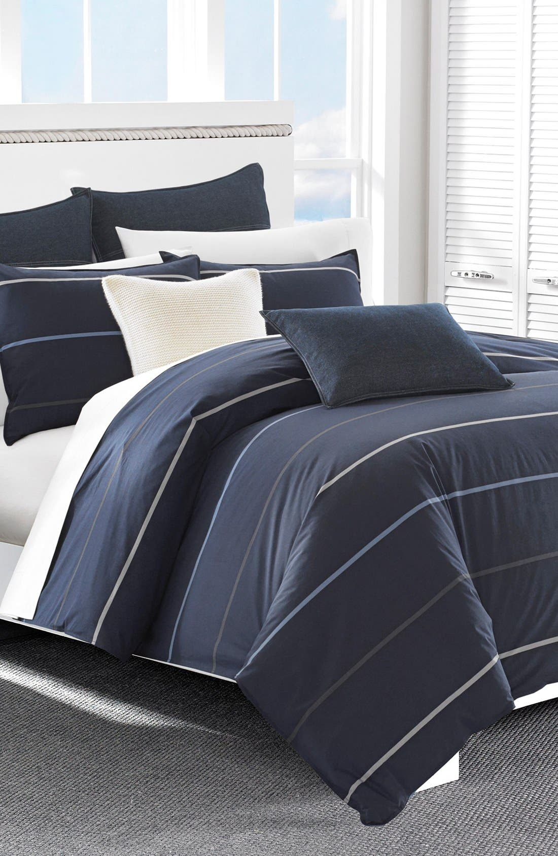 Southport Comforter & Sham Set,                             Alternate thumbnail 3, color,                             NAVY