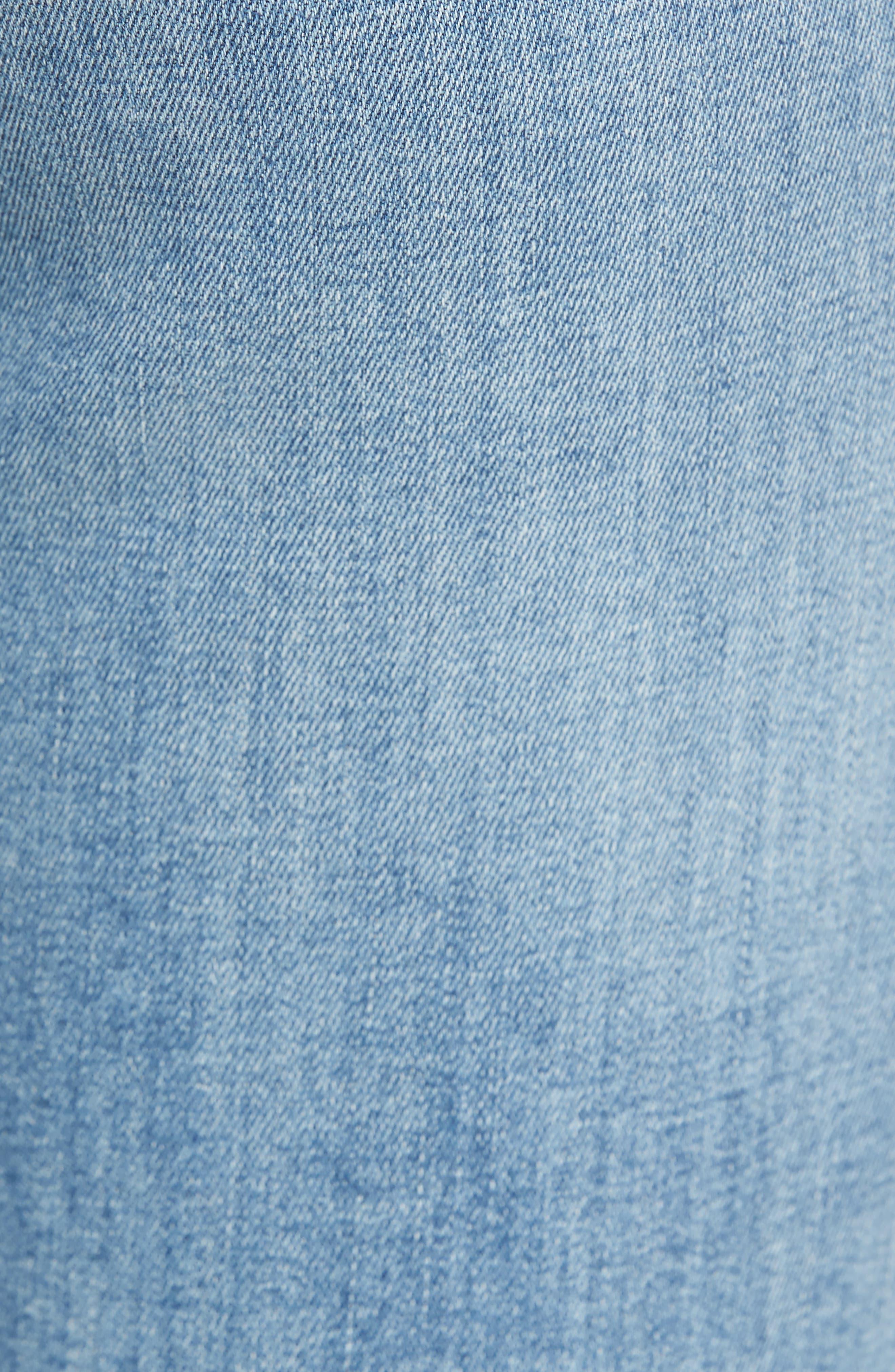 Edie Distressed Skinny Jeans,                             Alternate thumbnail 5, color,                             461