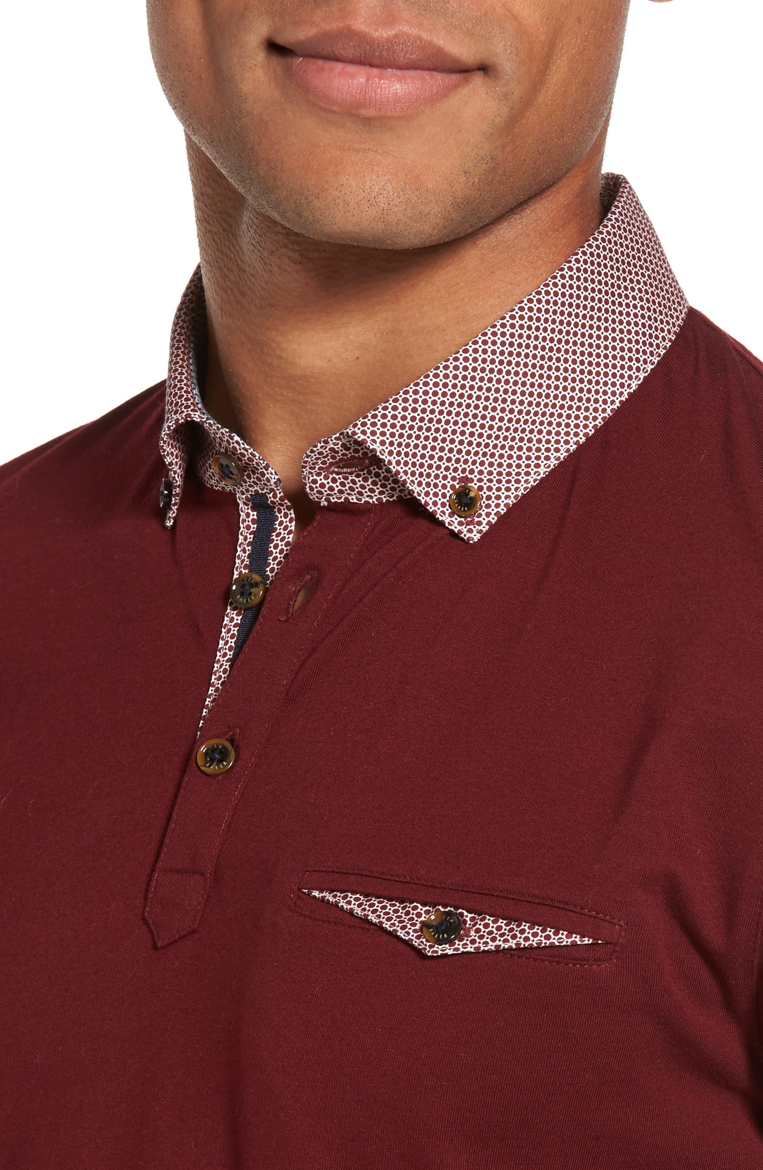 Woven Collar Polo,                             Alternate thumbnail 14, color,