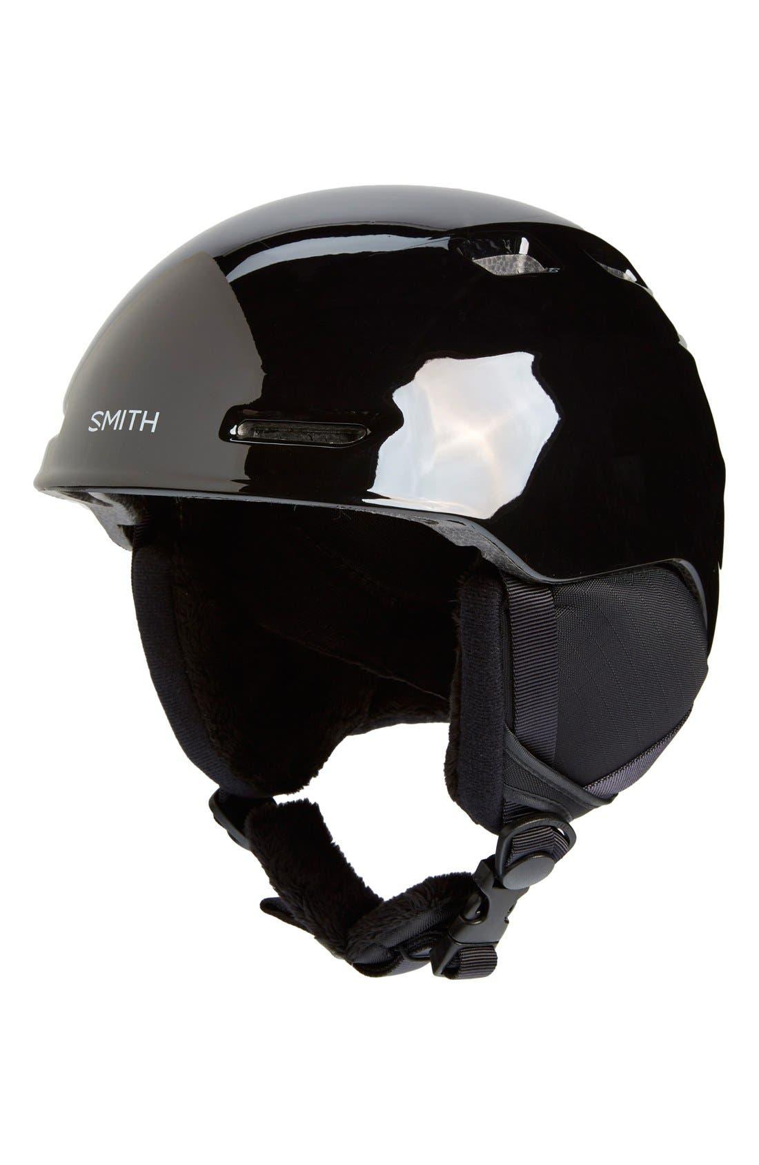 'Zoom Jr.' Snow Helmet,                             Main thumbnail 1, color,                             BLACK